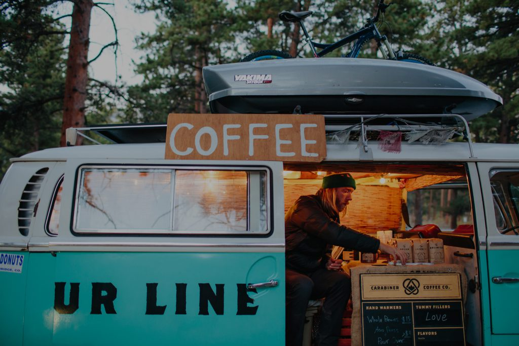 carabiner coffee bus