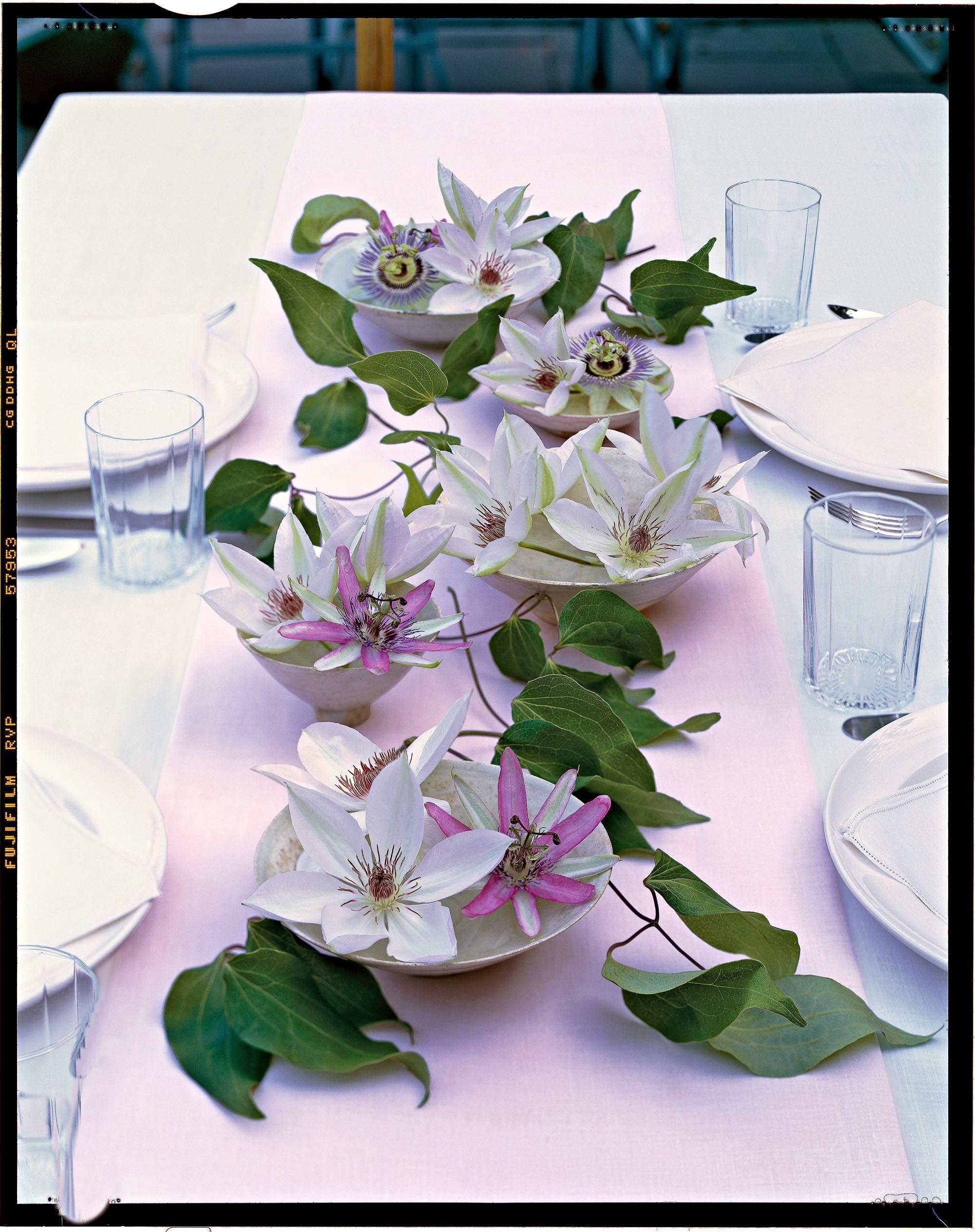 flower arrangement clematis blooms