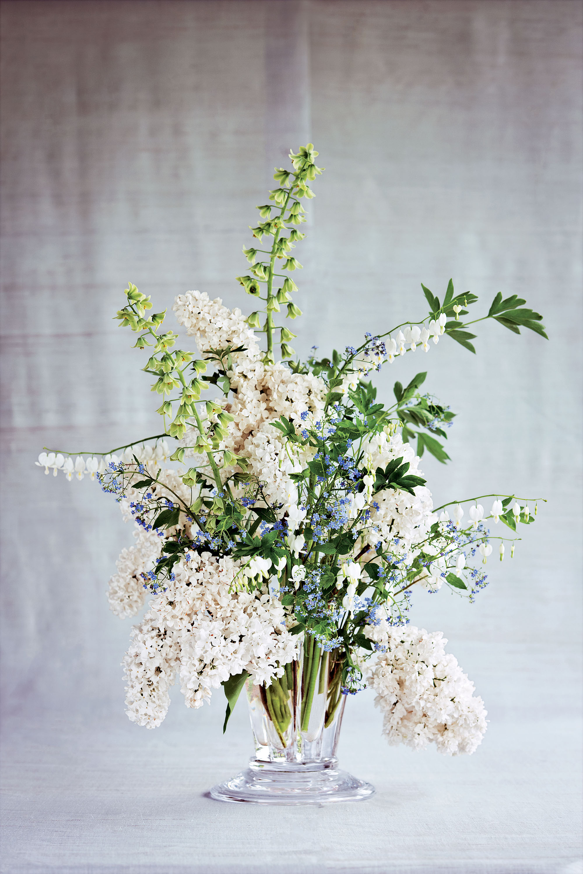 flower arrangement lilac persian lilies