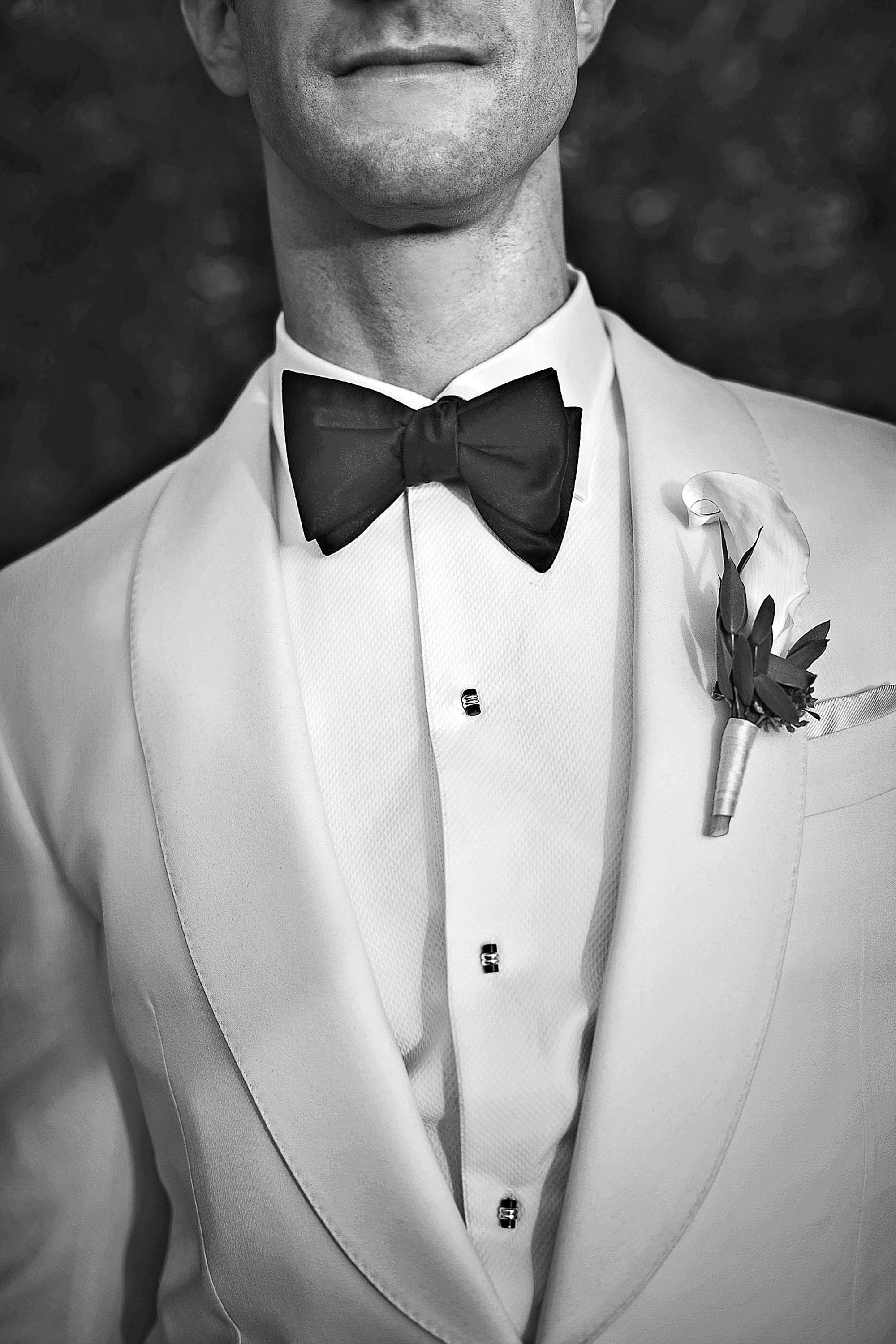 well dressed groom