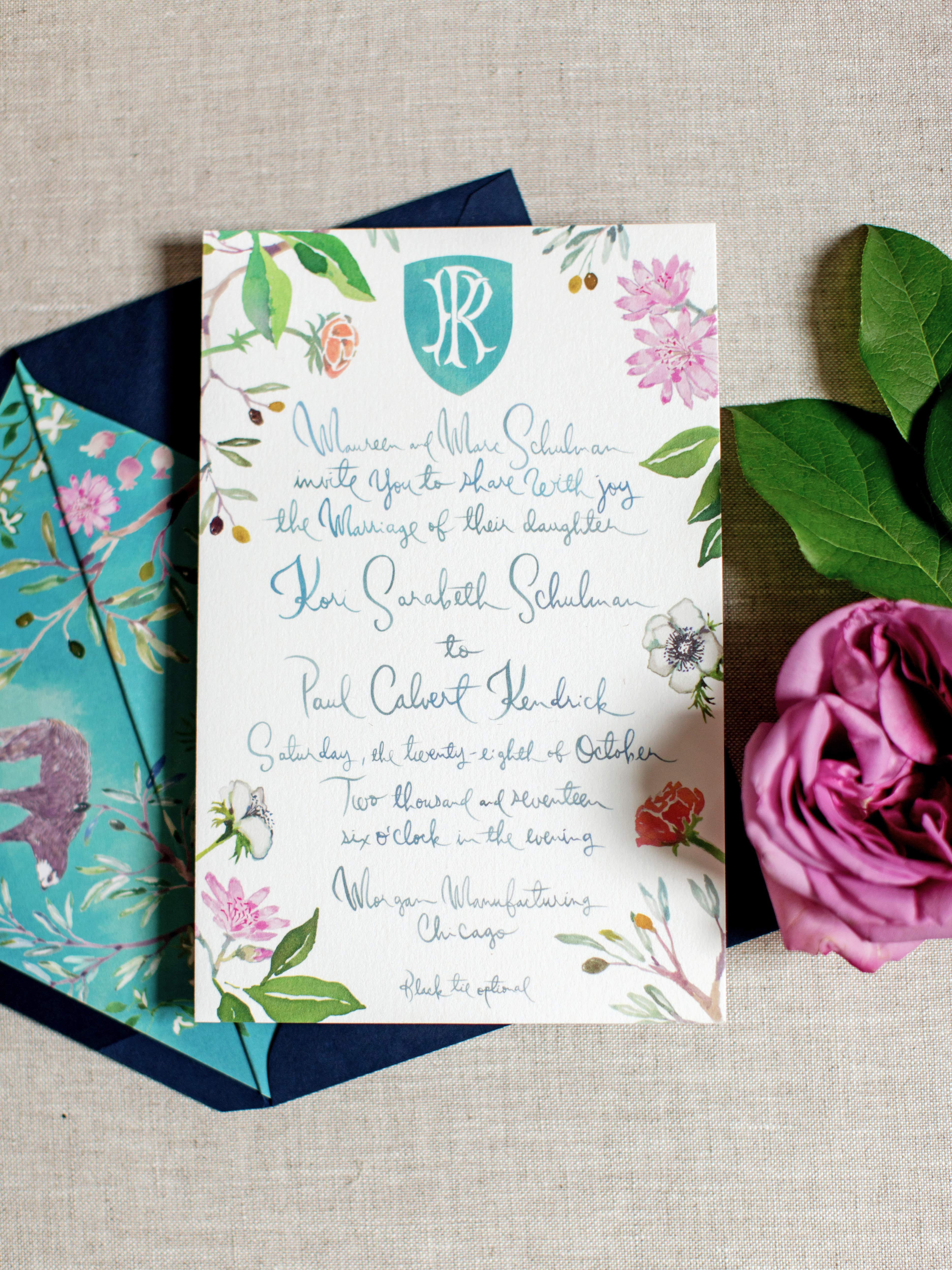 kori paul wedding invitation