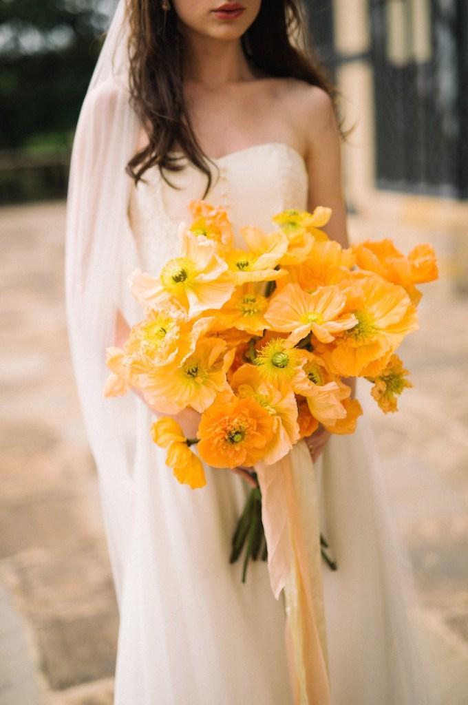 poppy bouquets lauren love photography orange