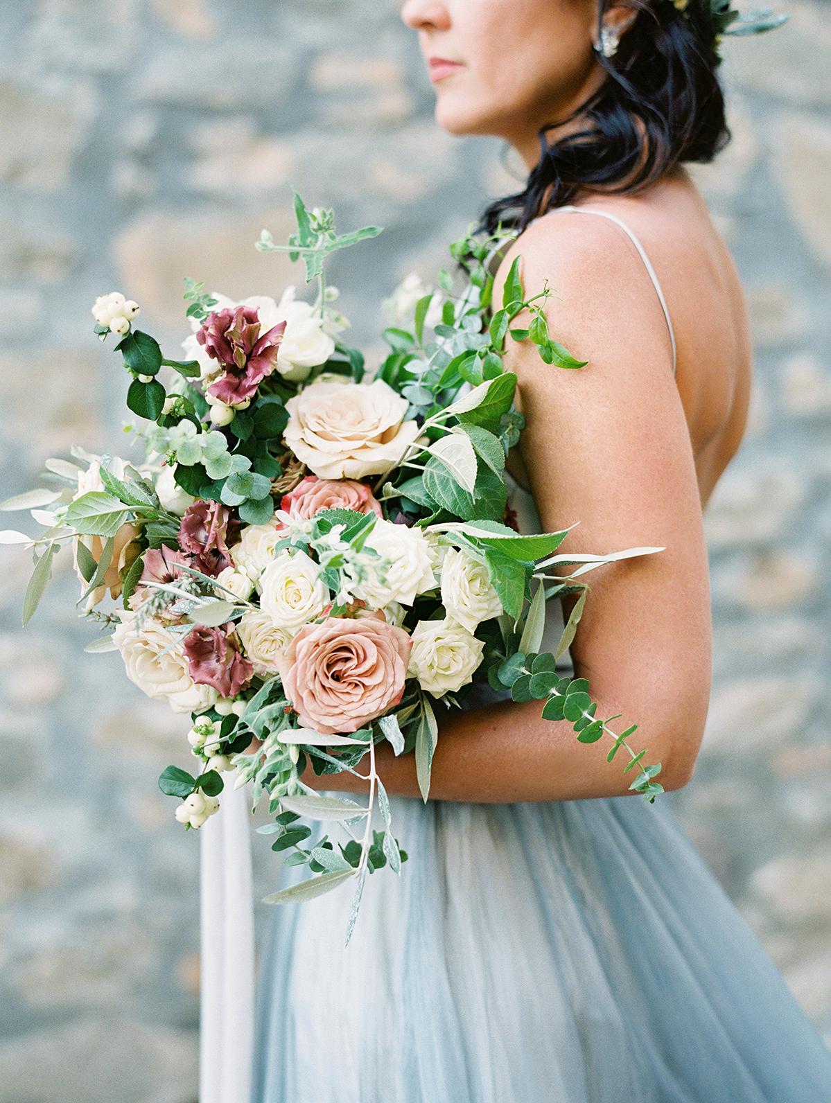 kelly pete wedding bridal bouquet