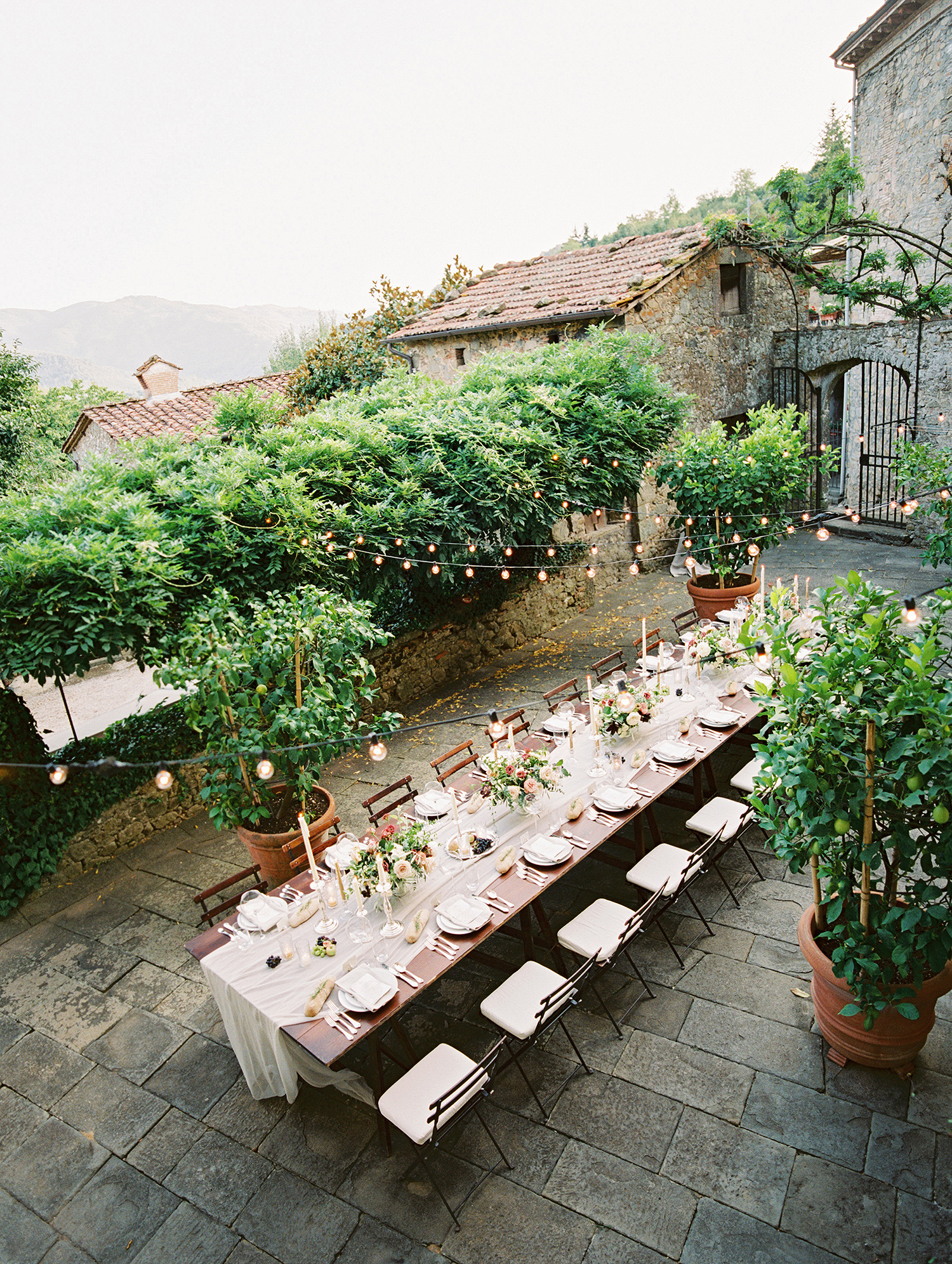 kelly pete wedding outdoor reception banquet table