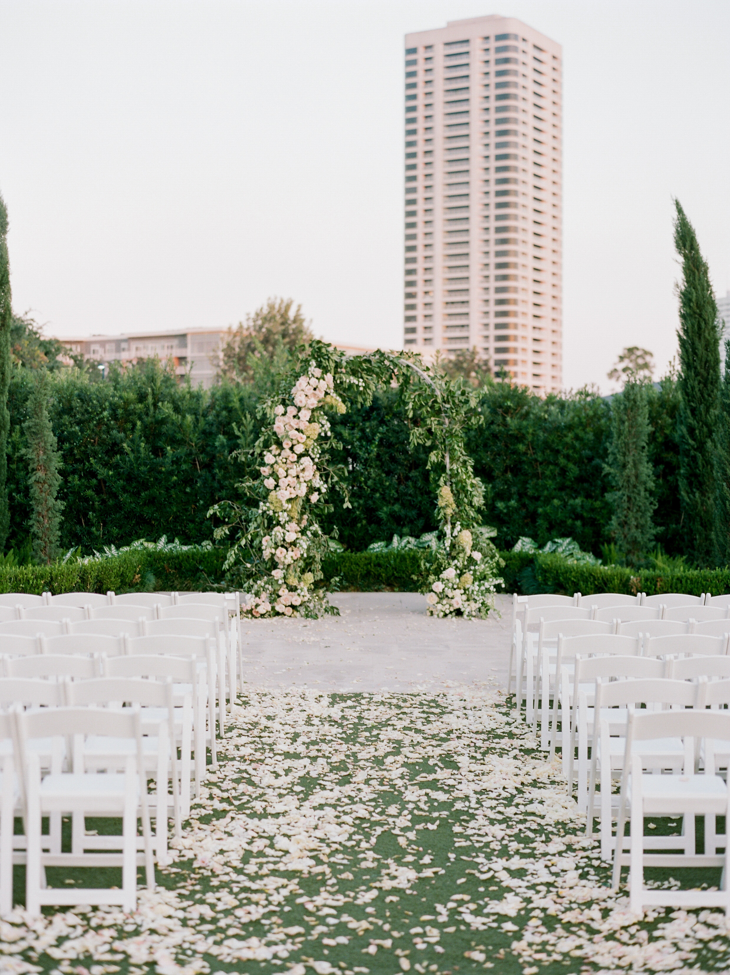 texas wedding set up ceremony