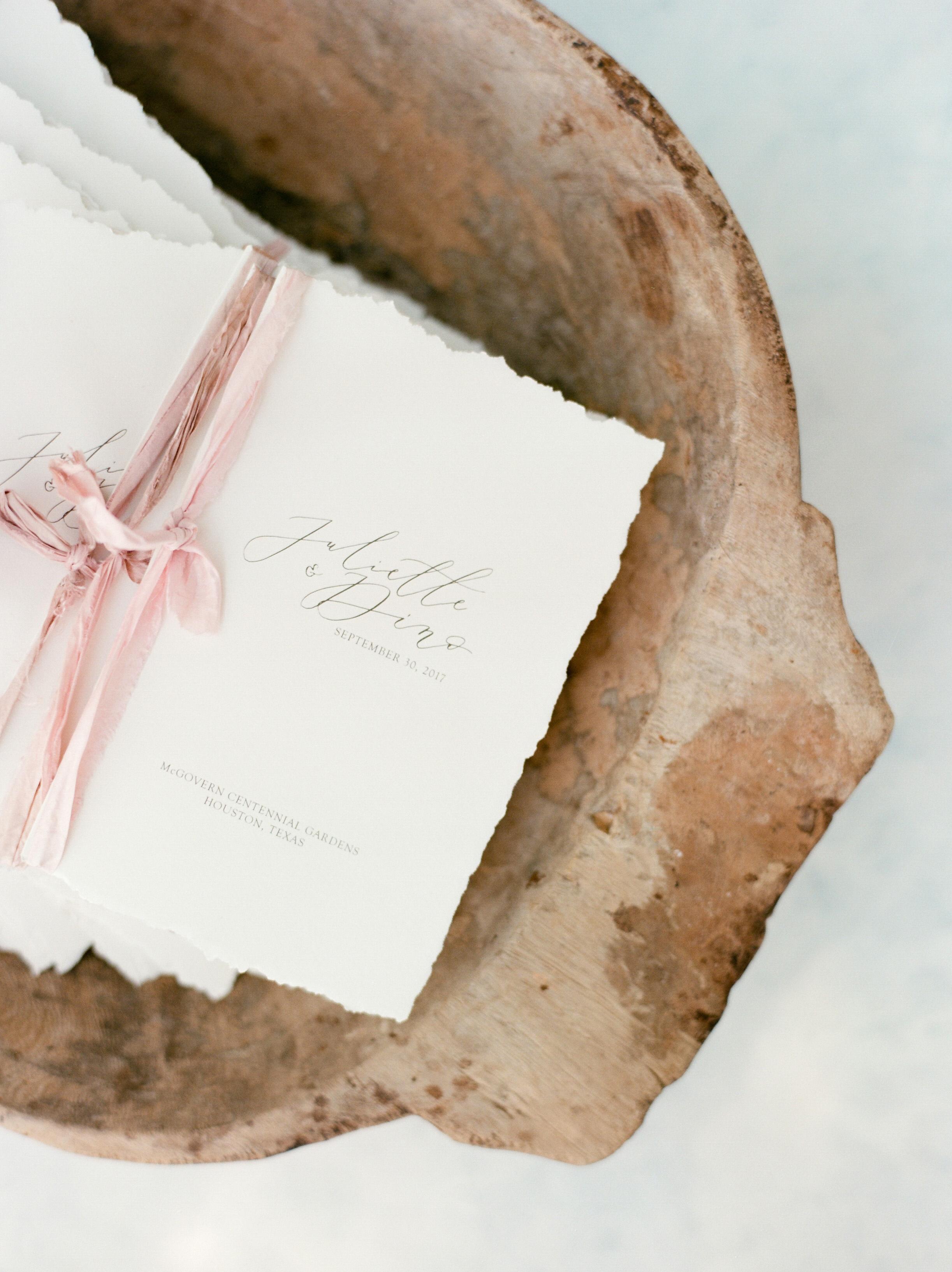 texas wedding programs ribbon