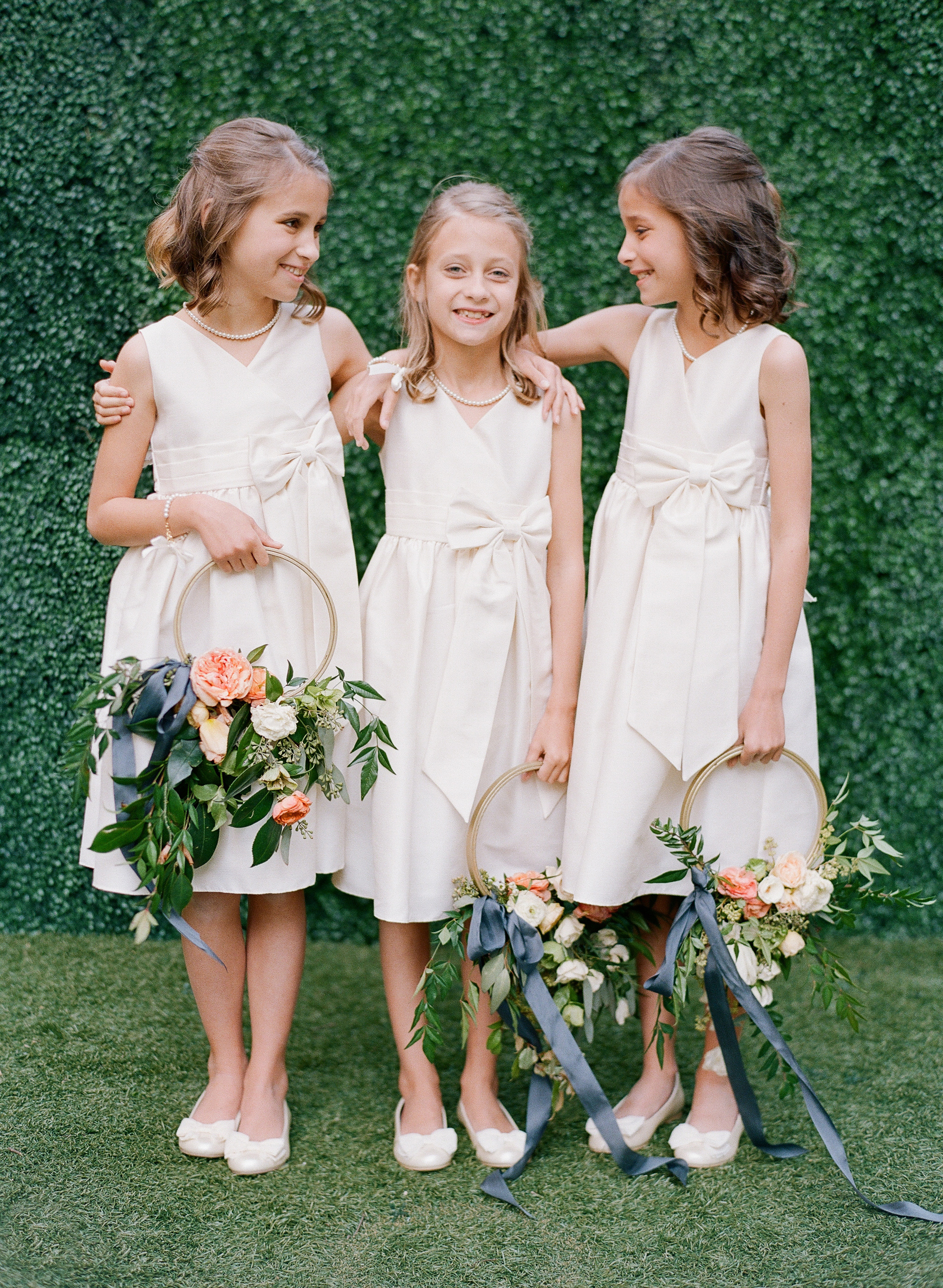 hoop bouquets anna shackleford junior bridesmaids