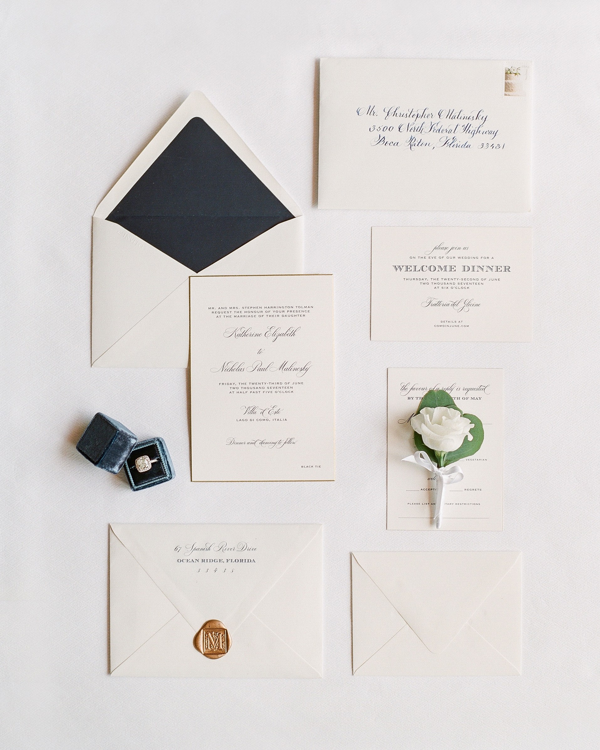 wax seal wedding invitations square wax seal