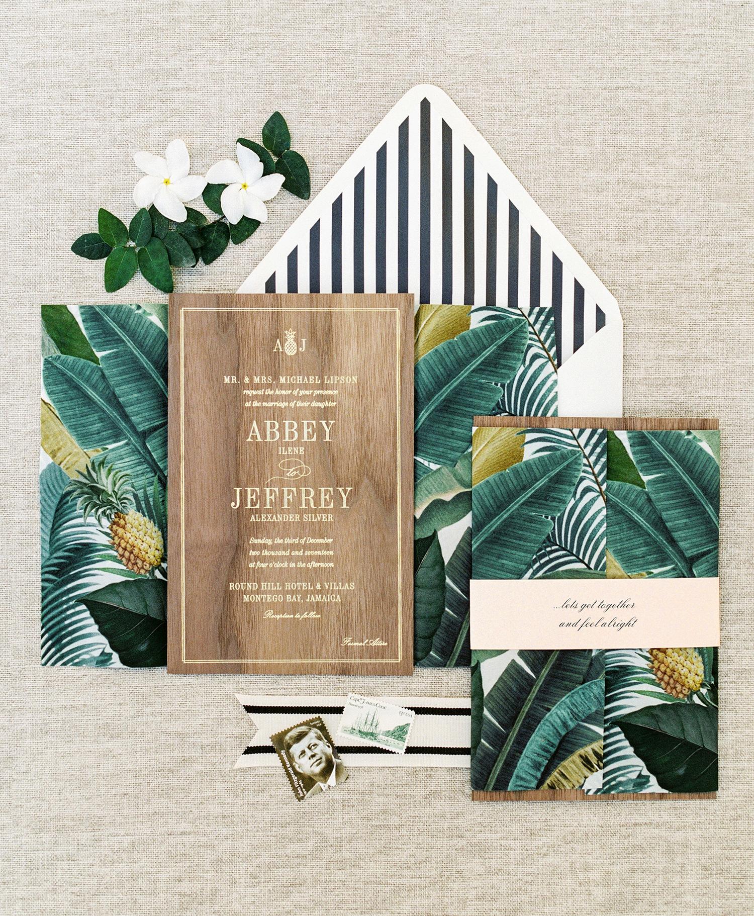 Palm Prints And Stripes Set The Tone