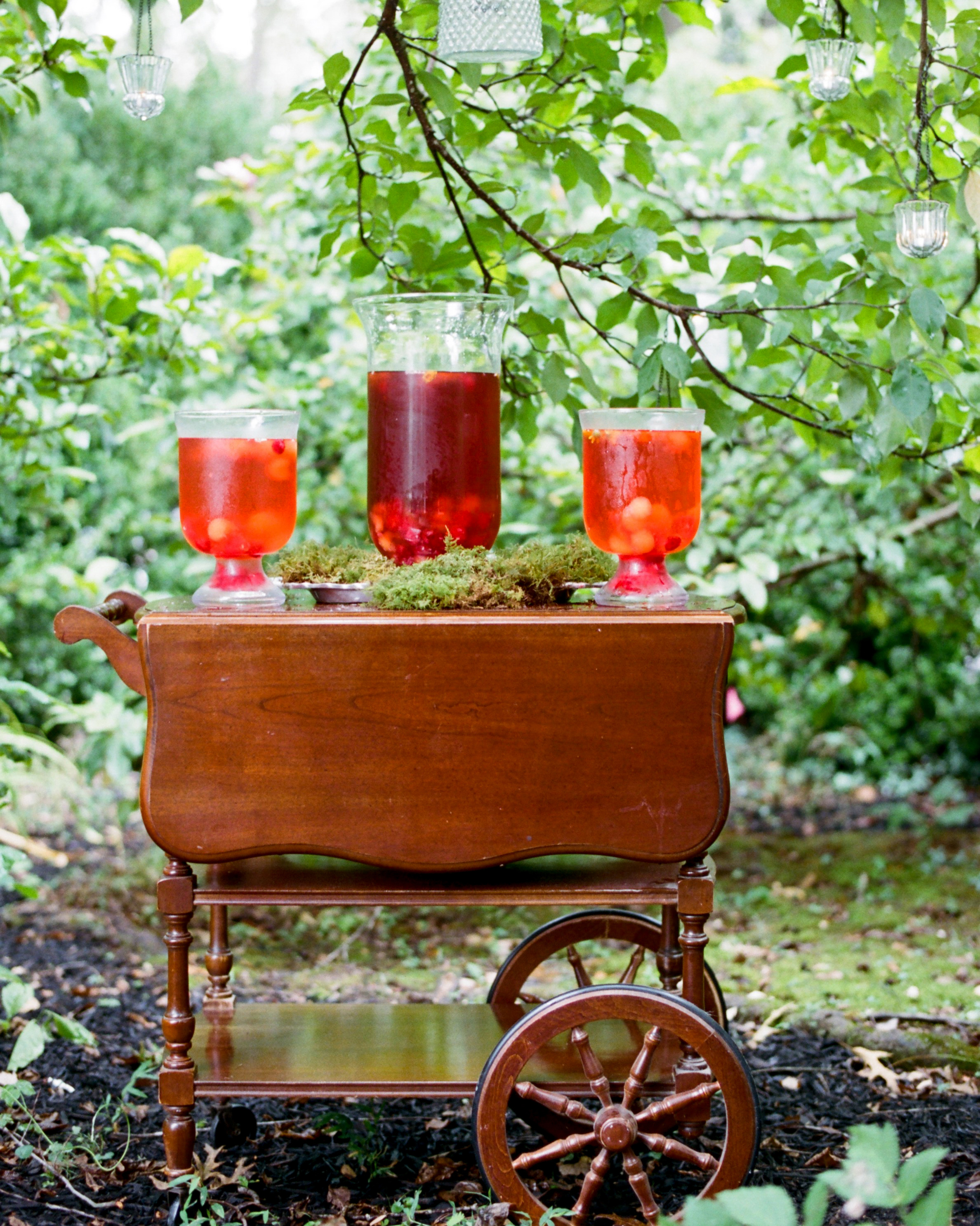 hydration stations non alcoholic vintage bar cart