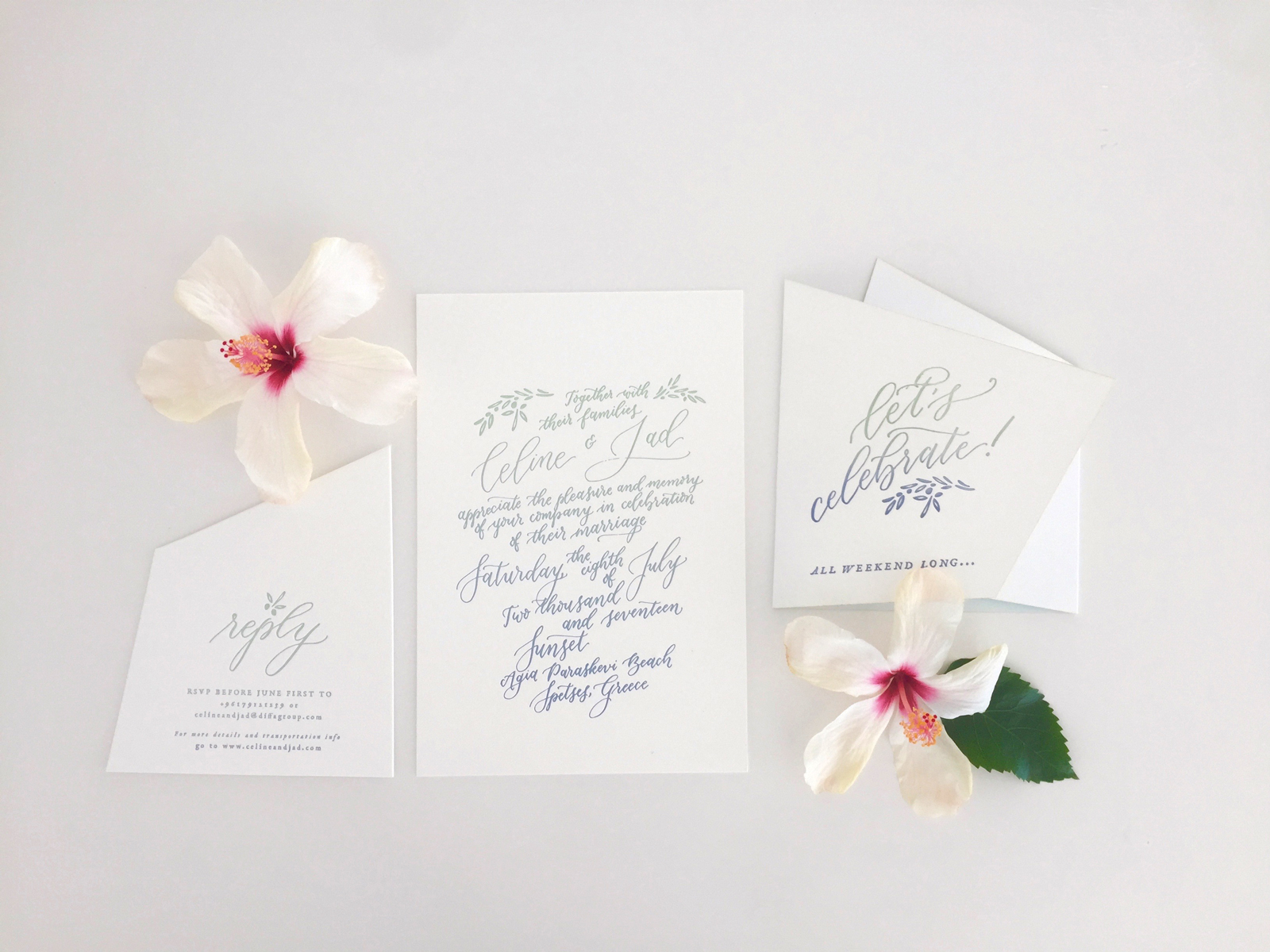 Calligraphed Invitations vs. Letterpressed Invitations