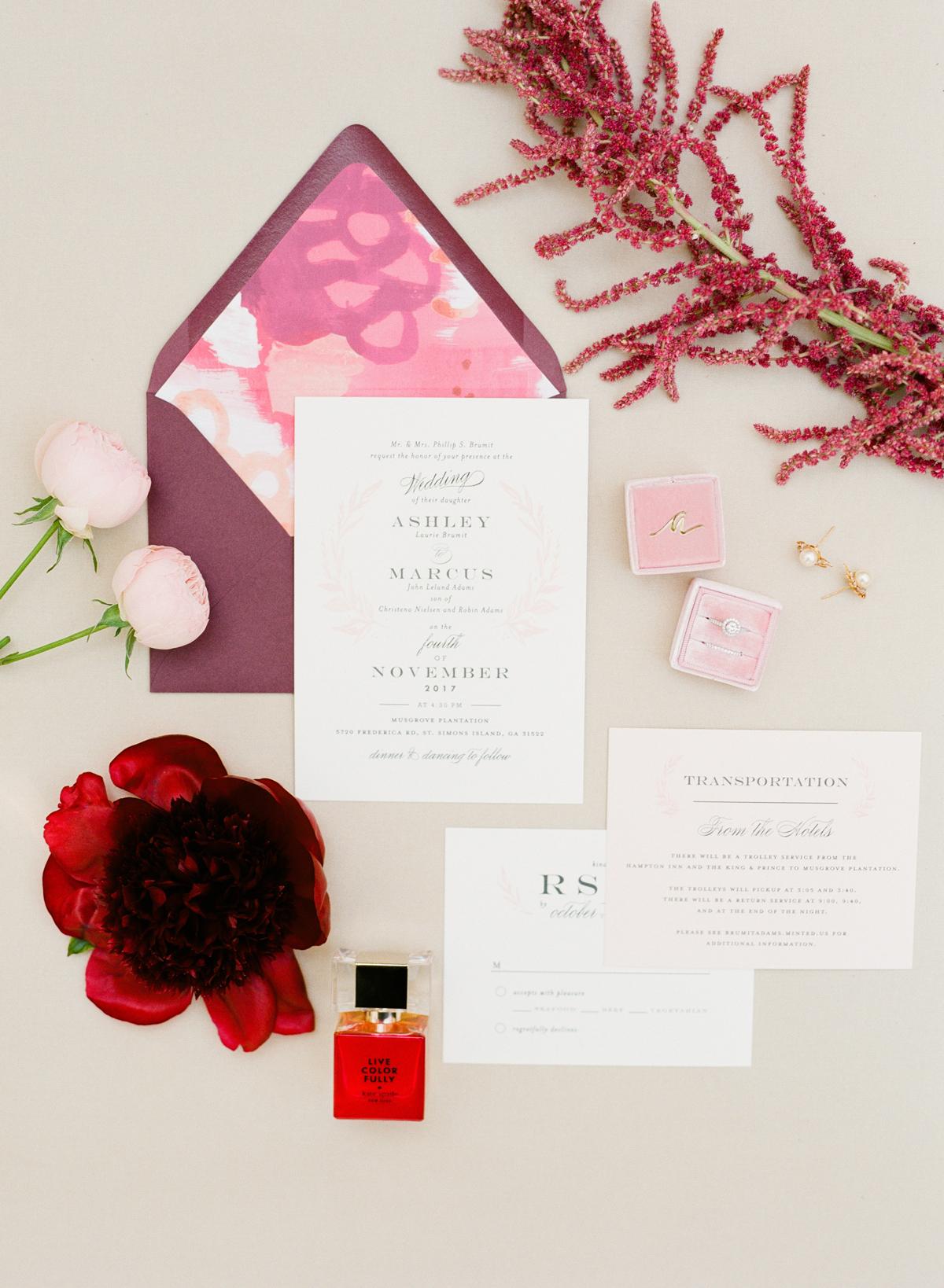 envelope invites the happy bloom