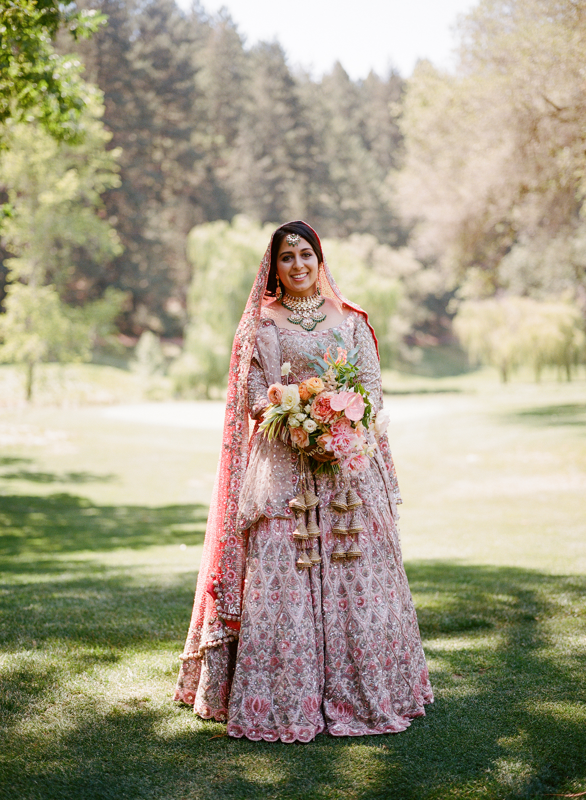 Long-Sleeved Indian Wedding Dress