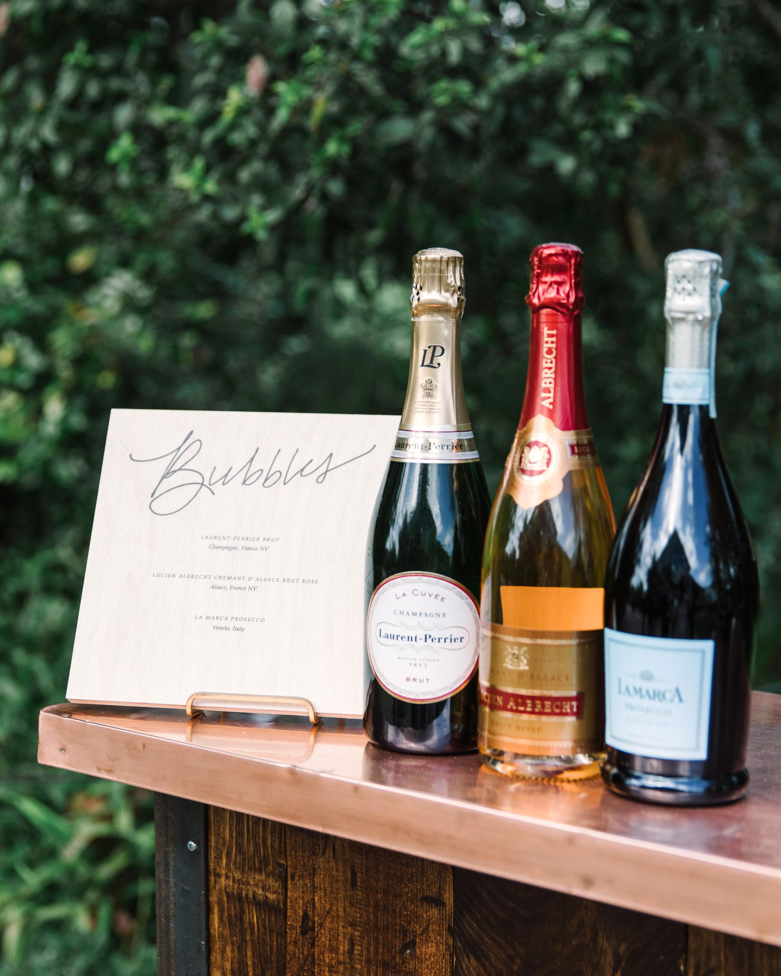 wedding bar champagne