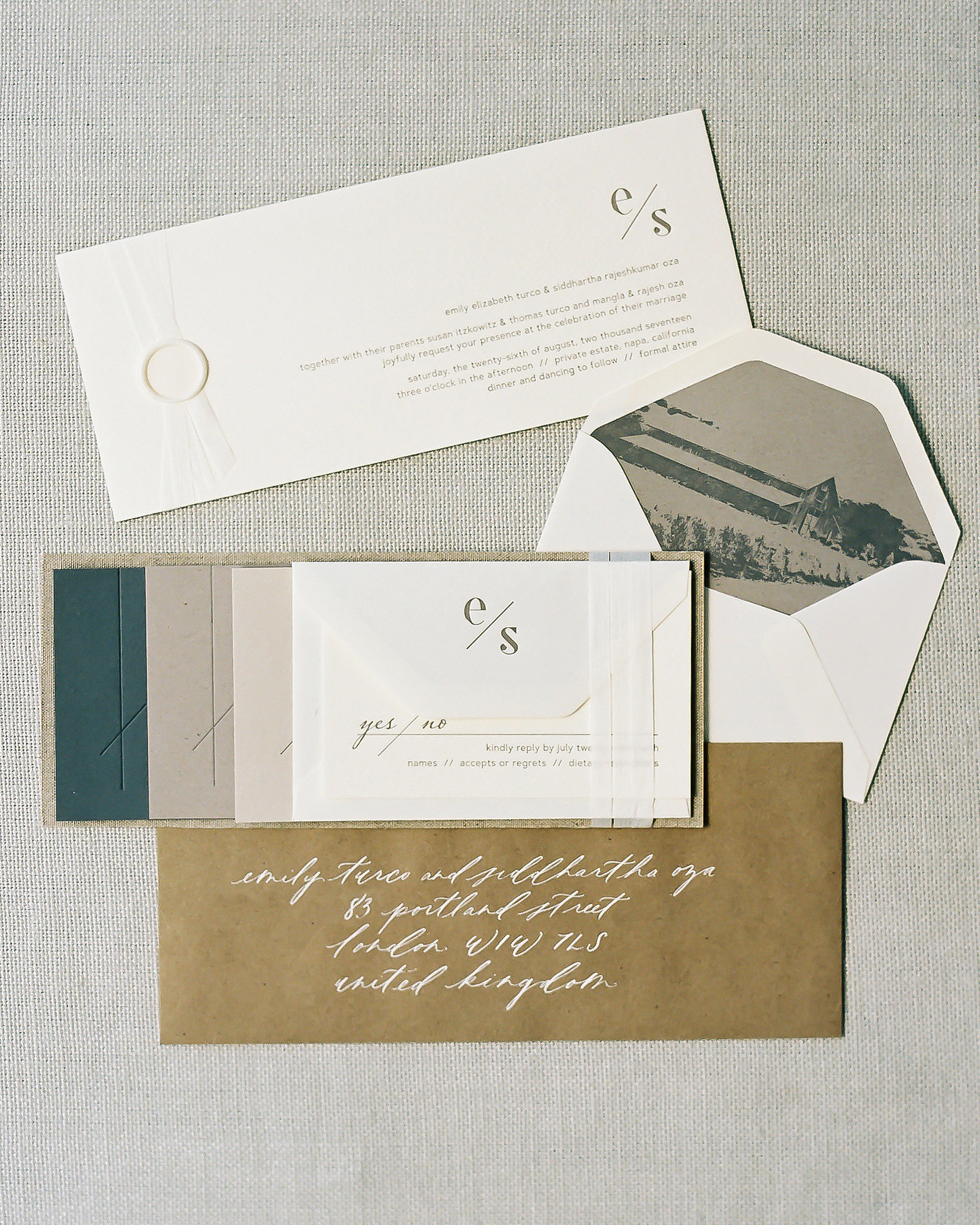 emily siddartha wedding invitation cards