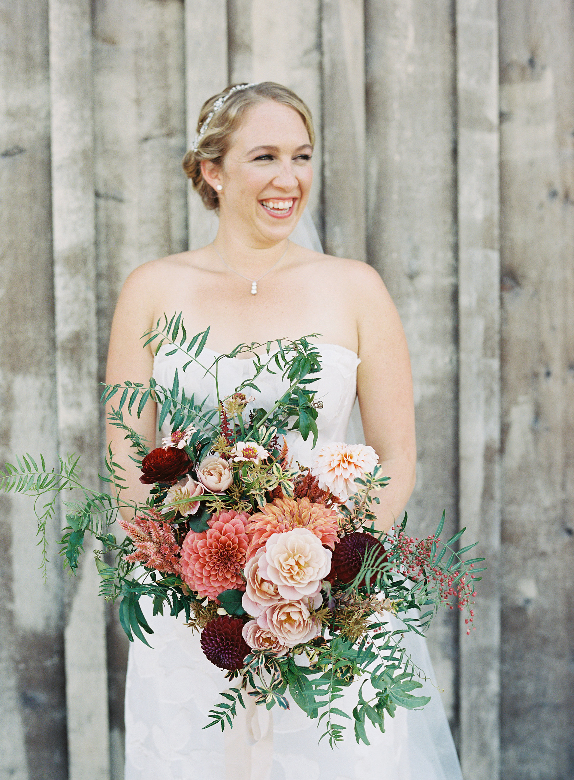 emily siddartha wedding bouquet bride