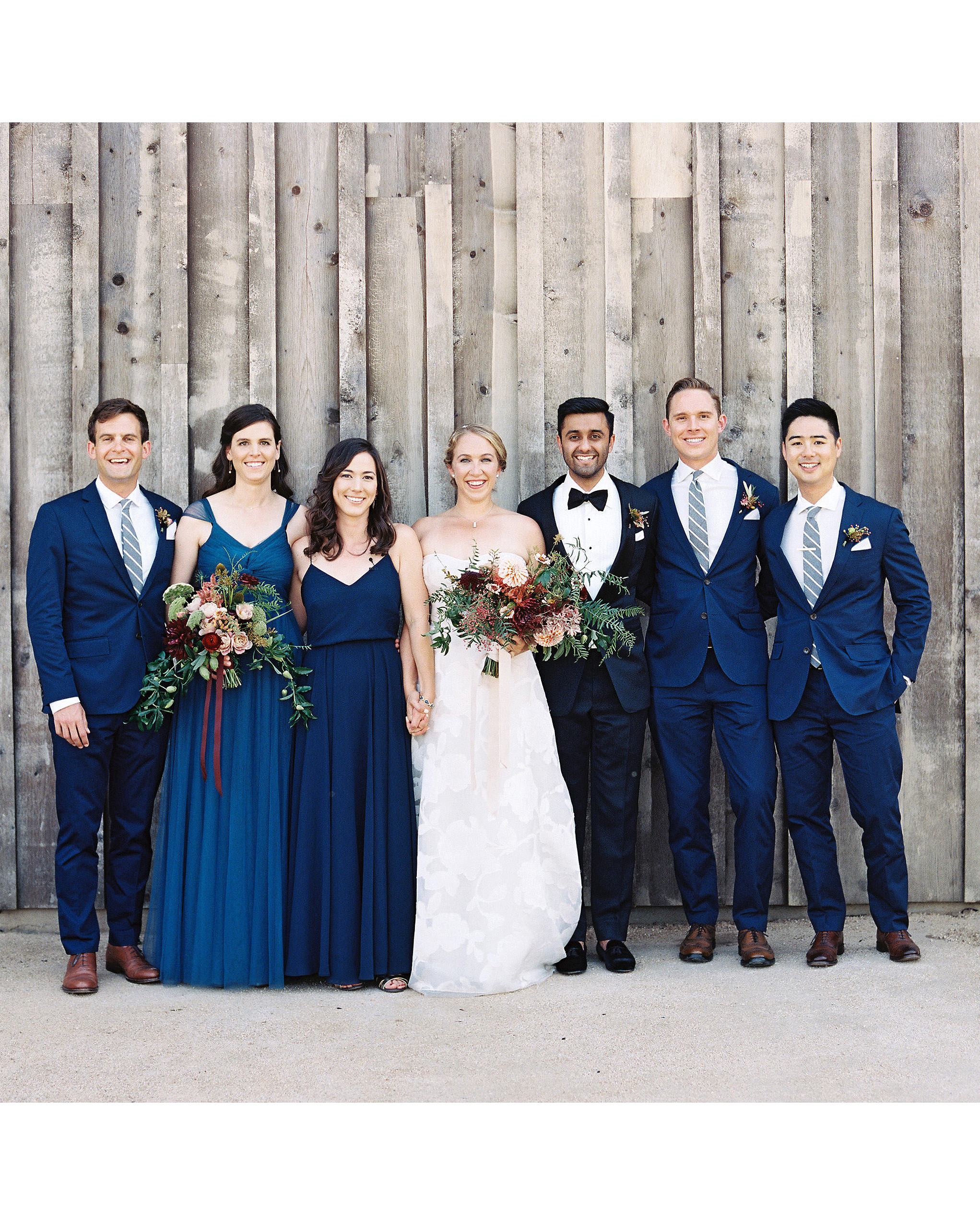 emily siddartha wedding bridal party