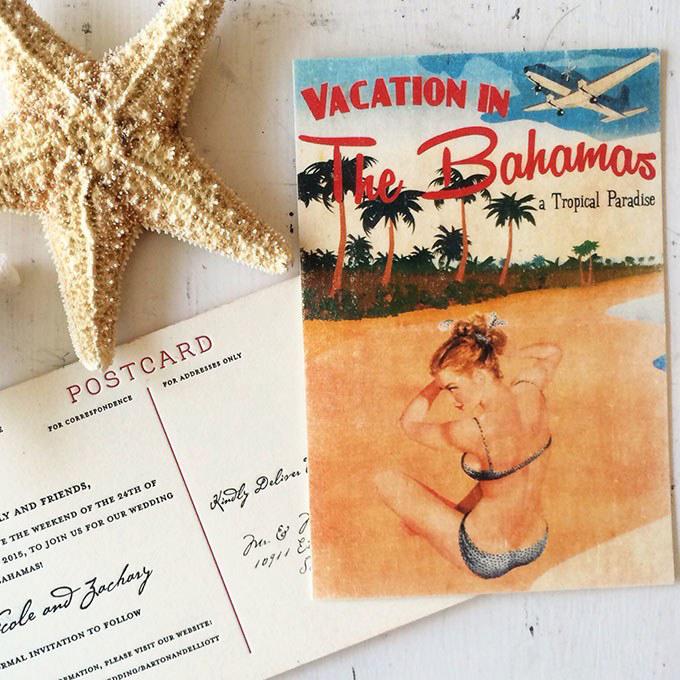 postcard invites copper willow