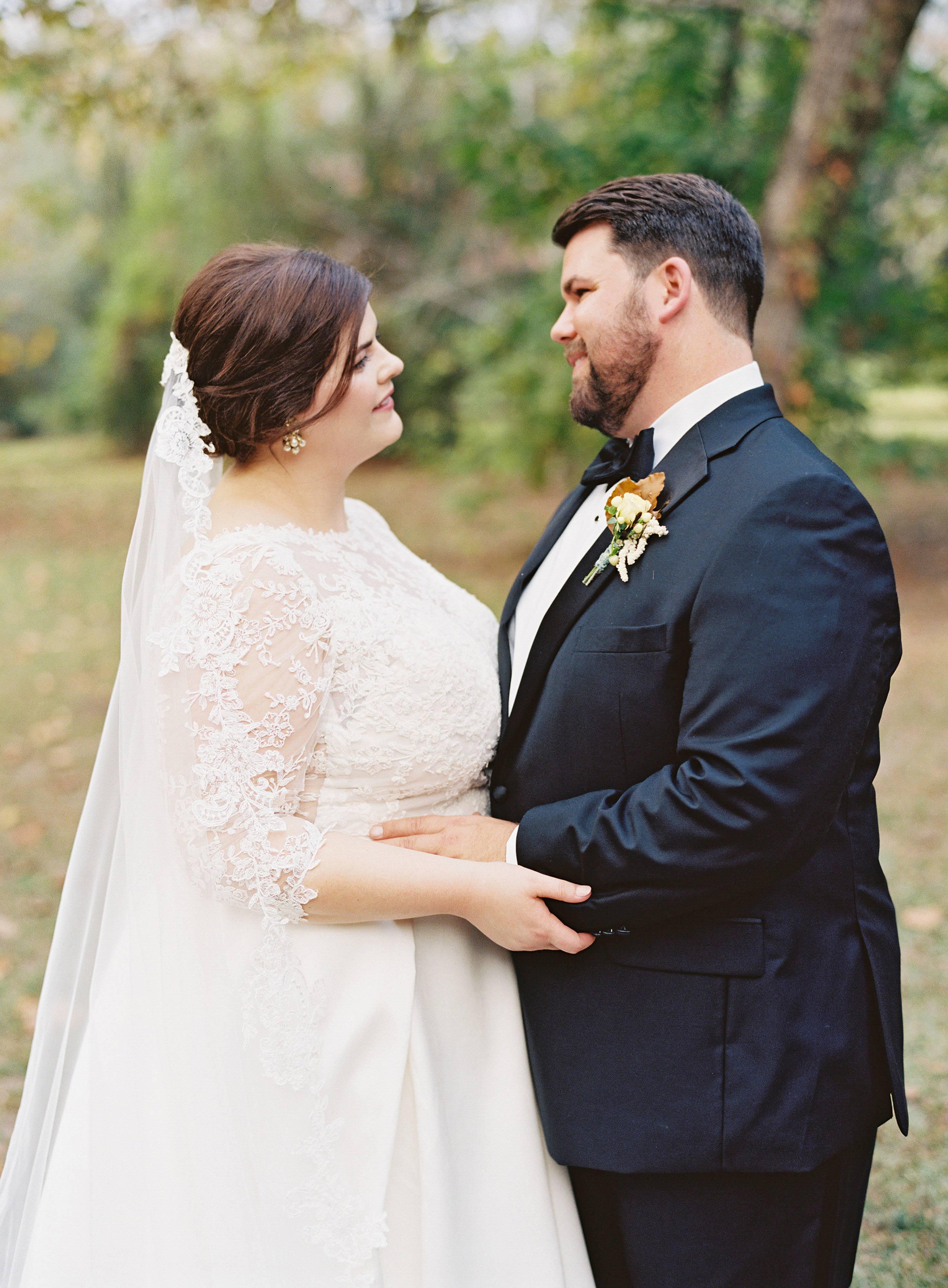 madeline brad wedding couple hug