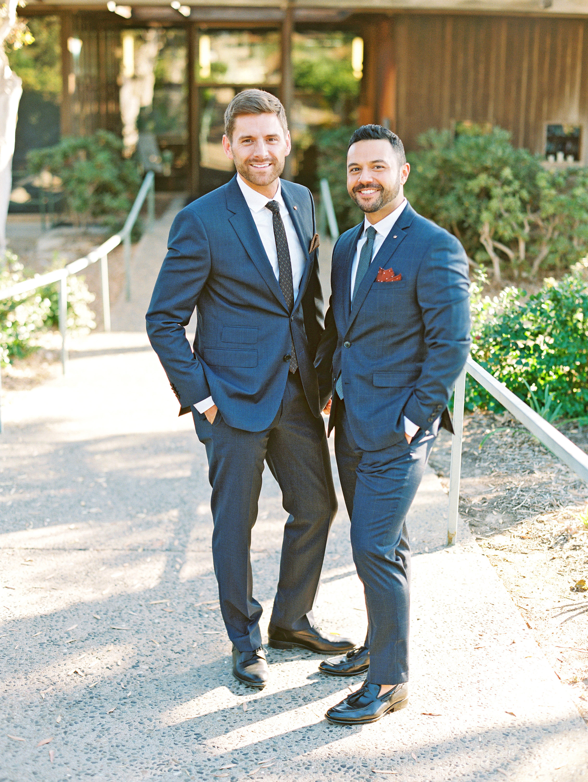 rob franco wedding grooms blue suits