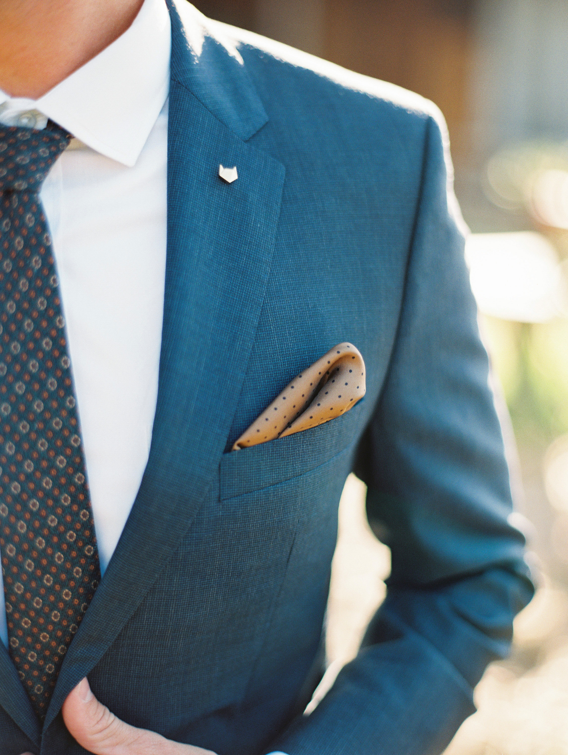 rob franco wedding pin pocket square