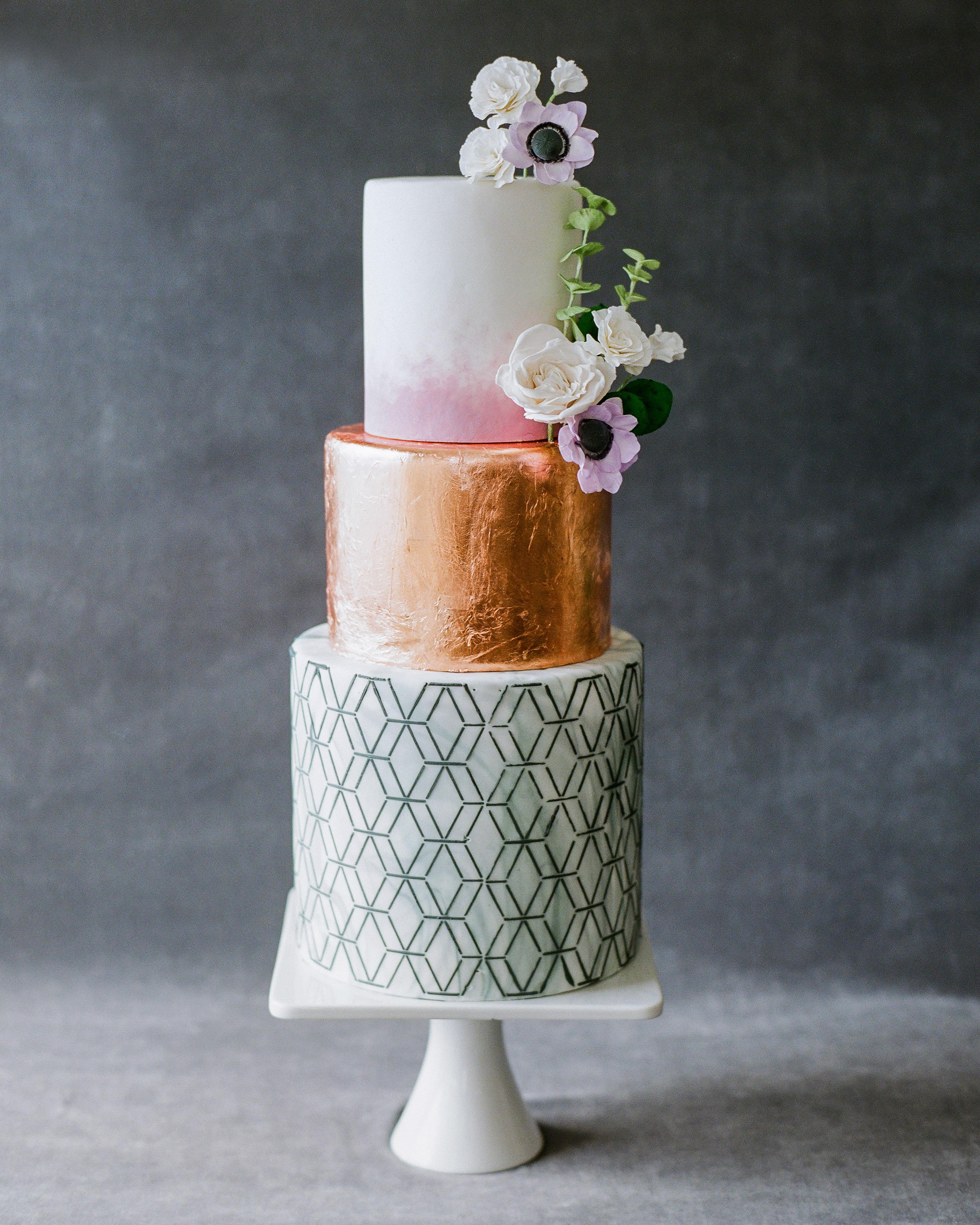vicky james mexico wedding 3 tiered cake