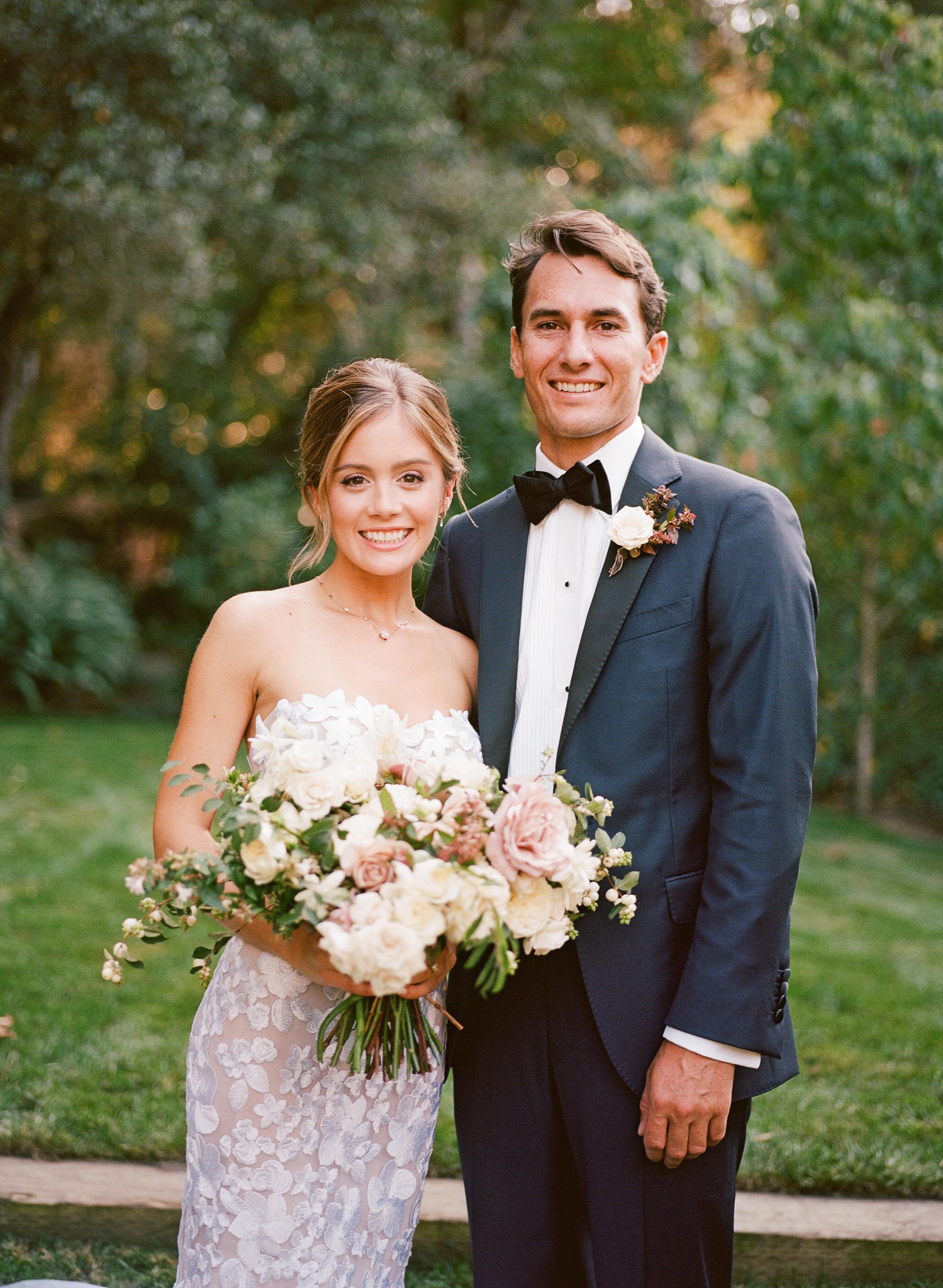 caitlin michael wedding couple