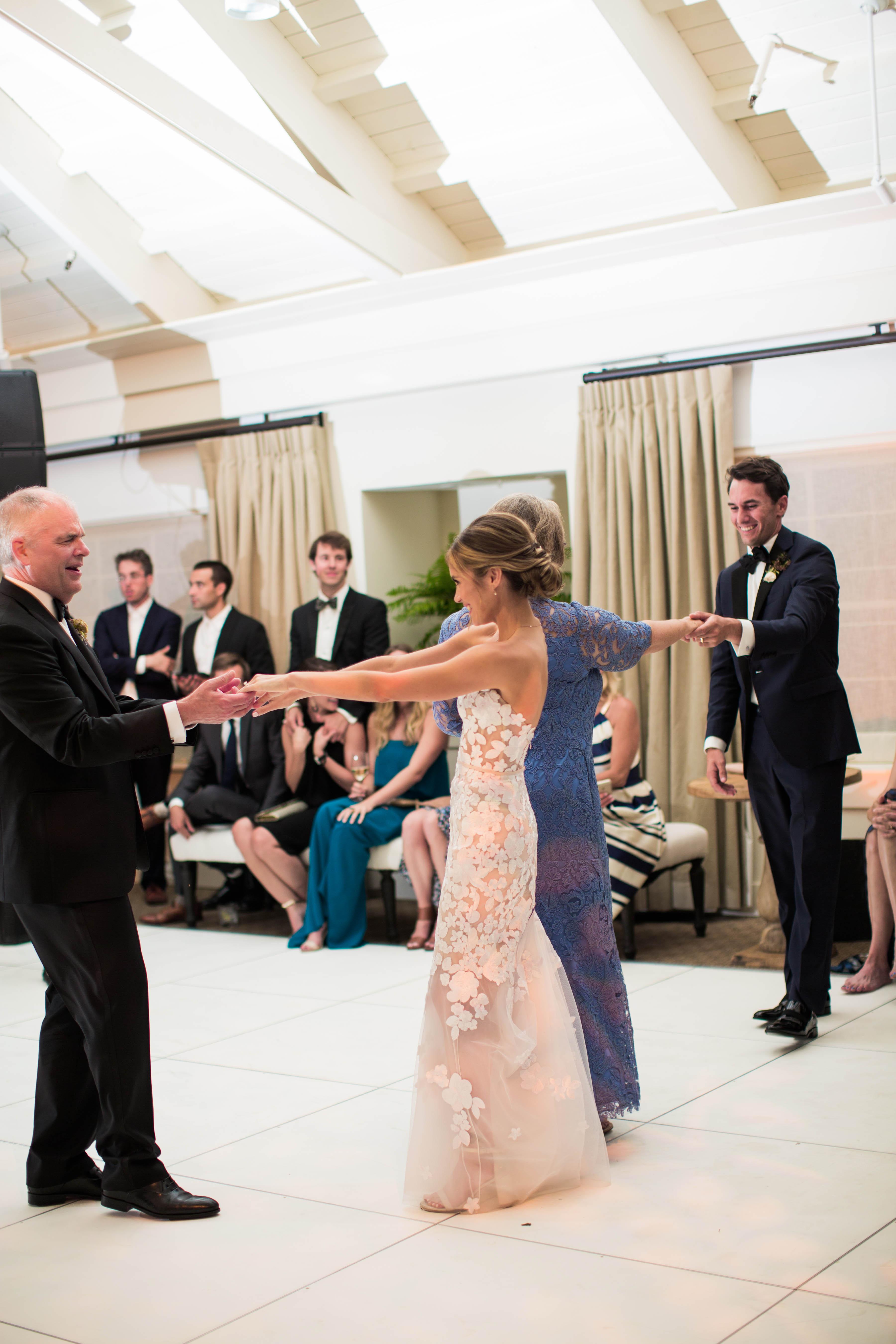caitlin michael wedding parent dances