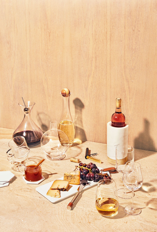 modern autumnal cocktail serve ware