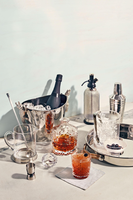 seasonal silver cocktail serve ware
