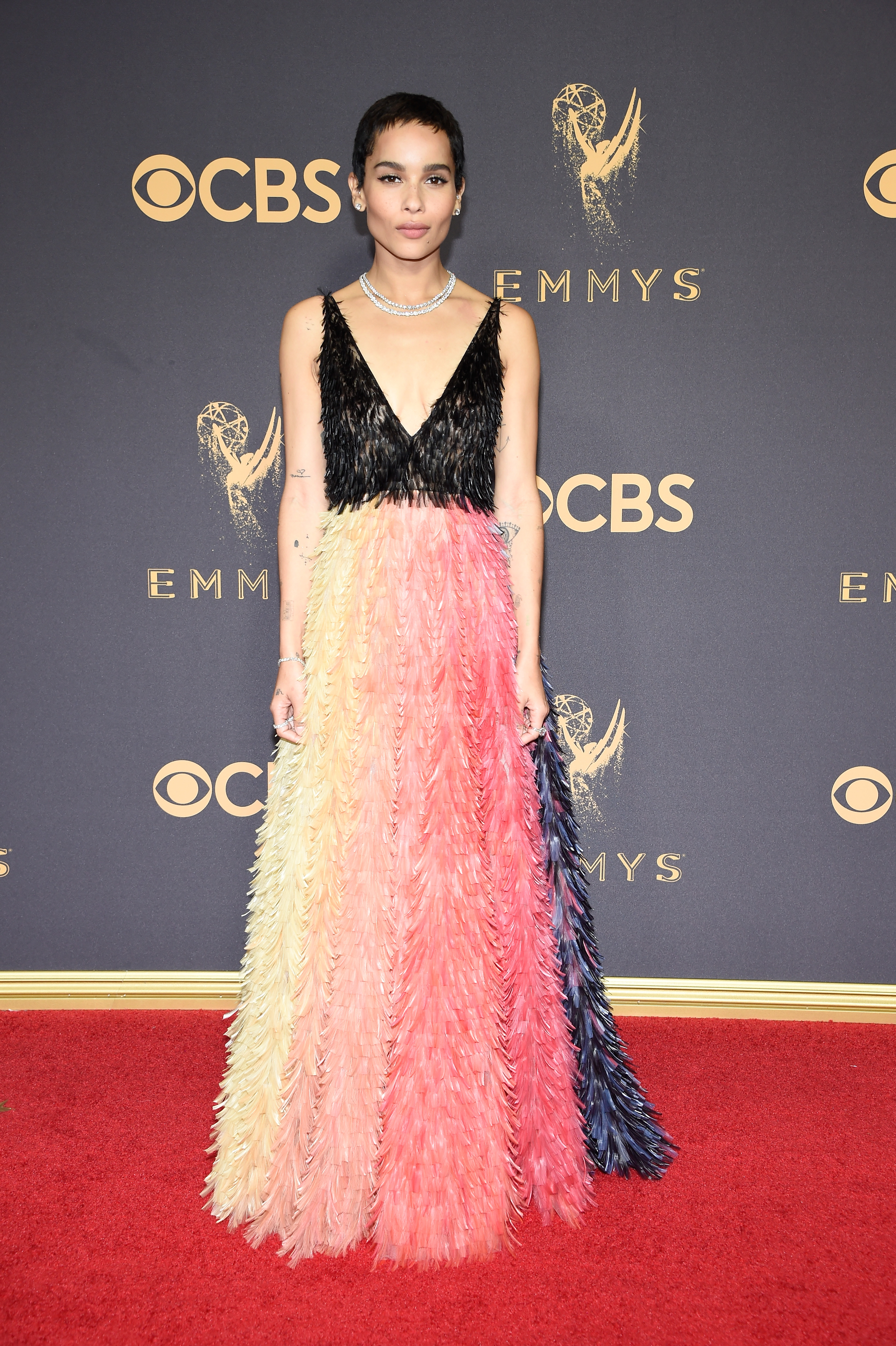 Zoe Kravitz Emmys Red Carpet 2017