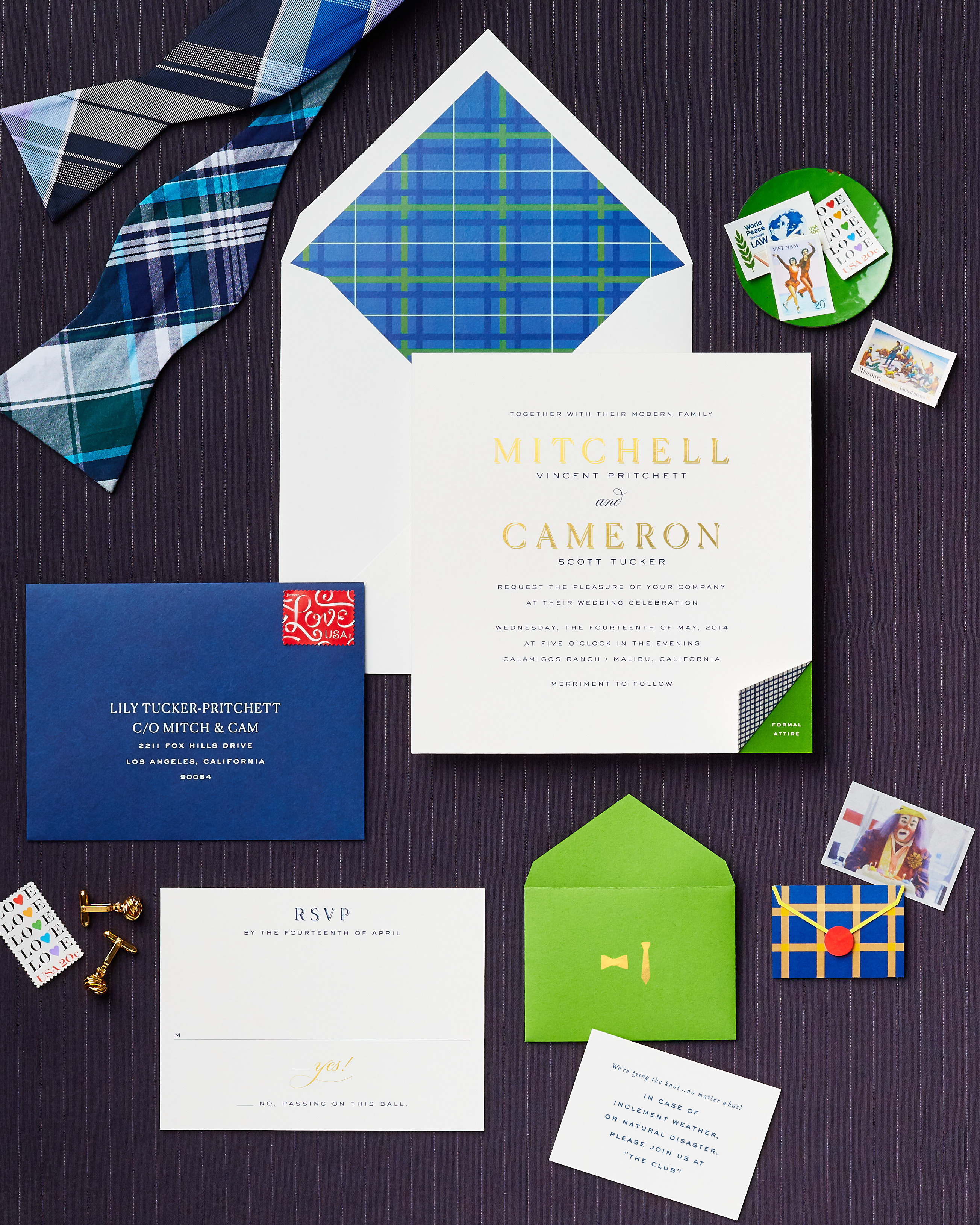 television inspired wedding invites modern family