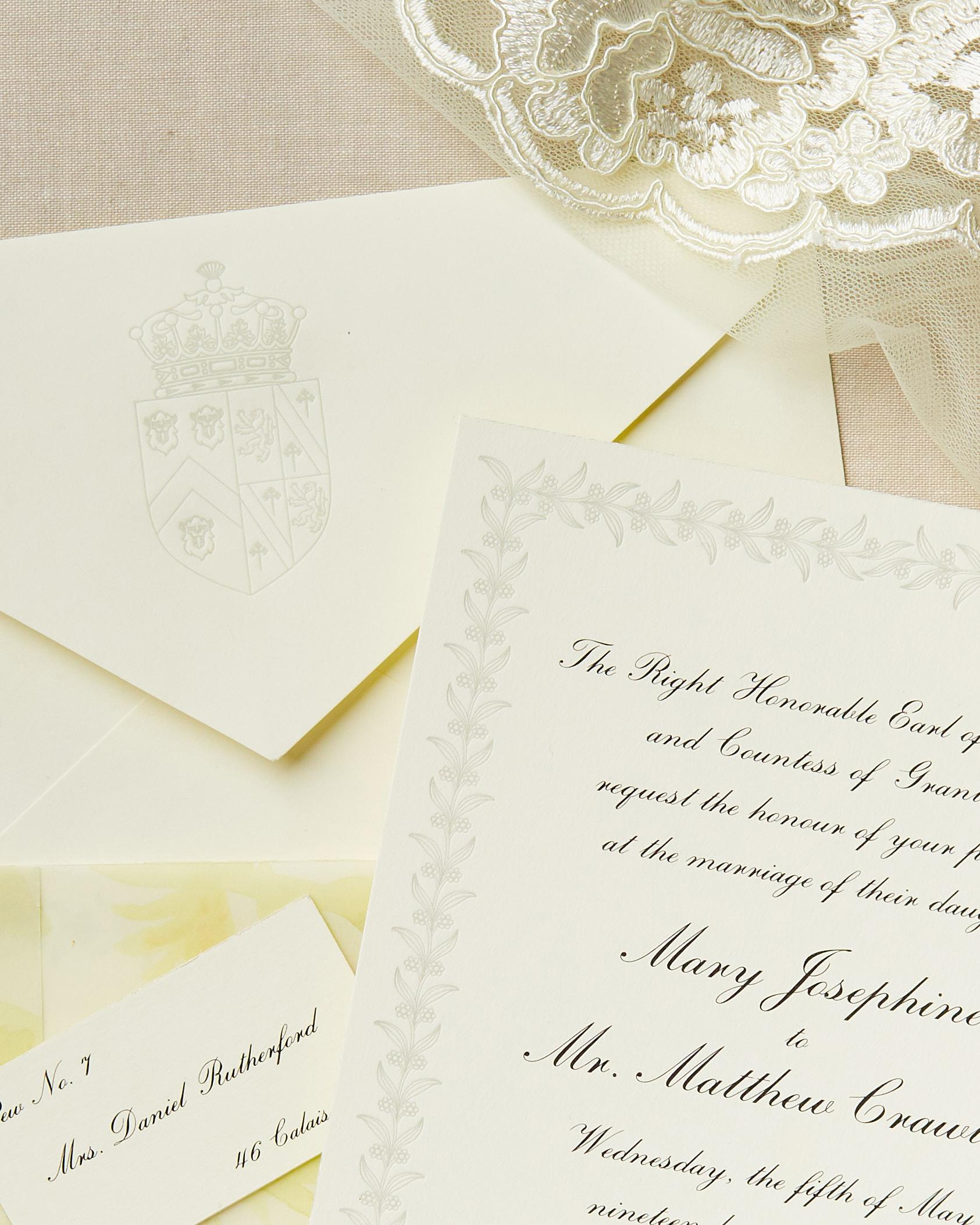 television inspired wedding invites downton abbey