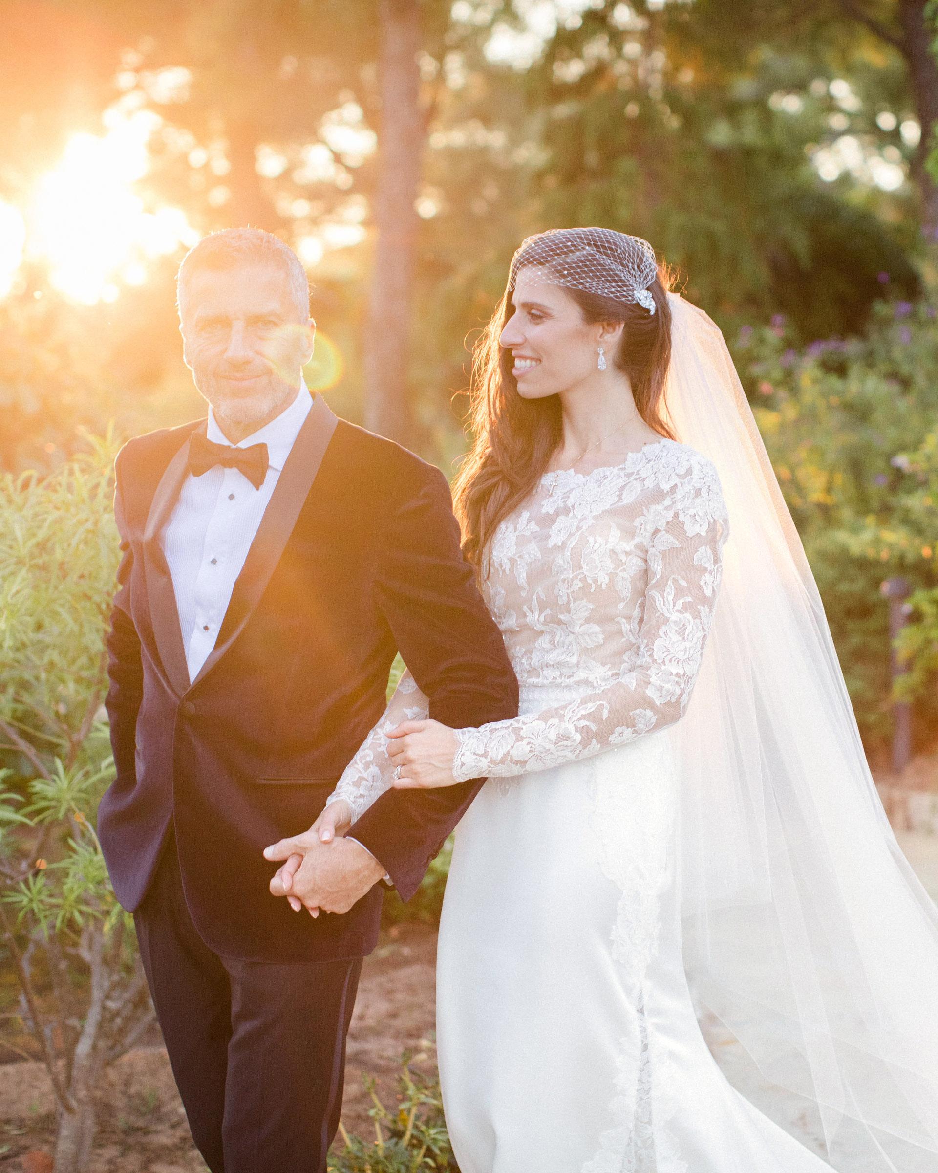 jiannina enzo wedding couple arm in arm