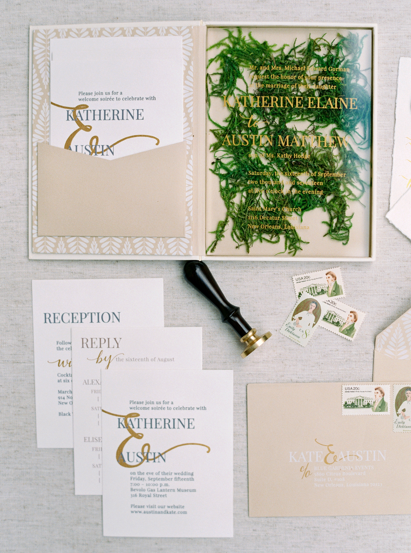 kate austin wedding invitation