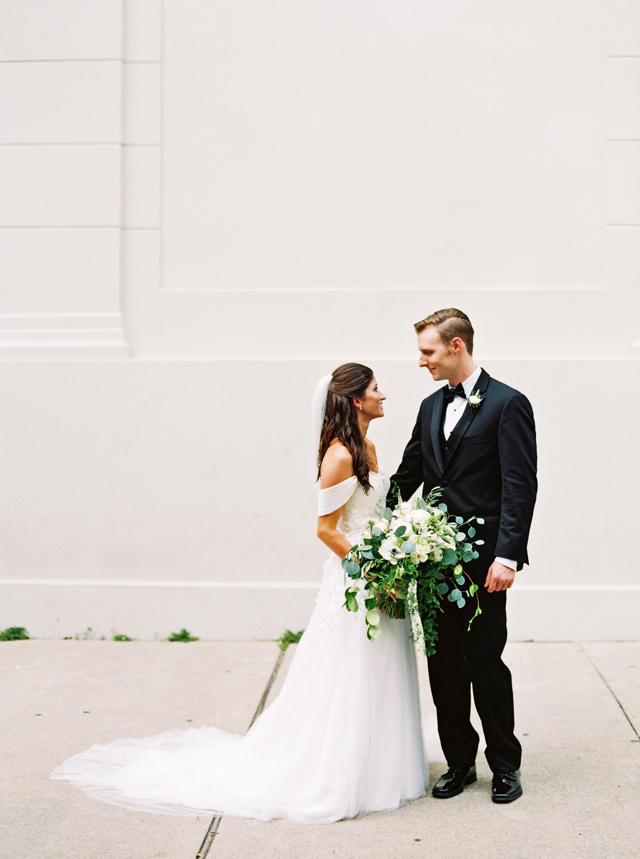 kate austin wedding couple bouquet