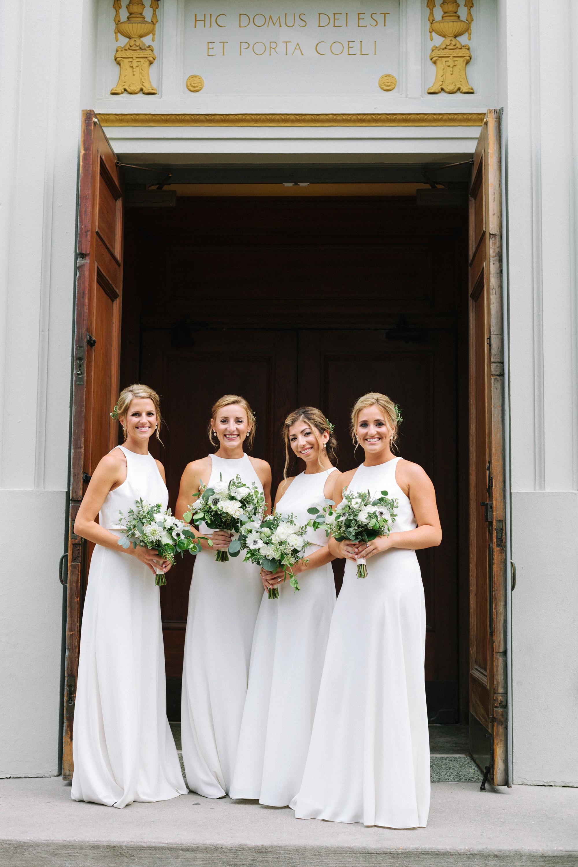 kate austin wedding bridesmaids doorway