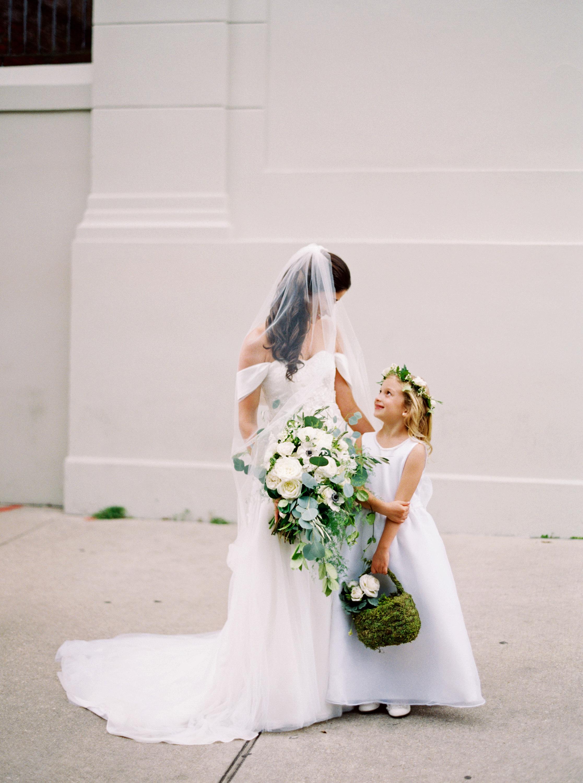 kate austin wedding flowergirl bride bouquet