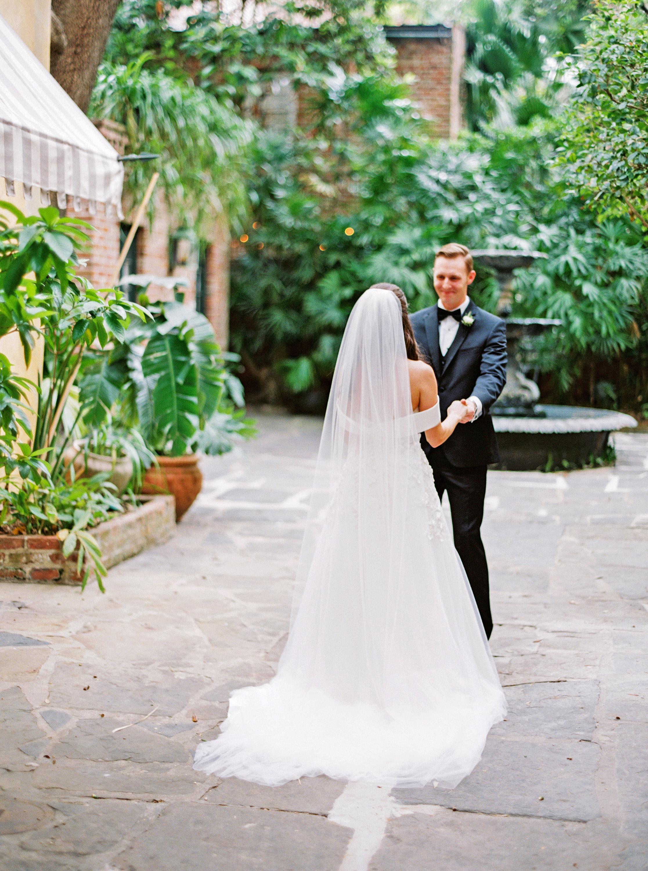 kate austin wedding firstlook fountain