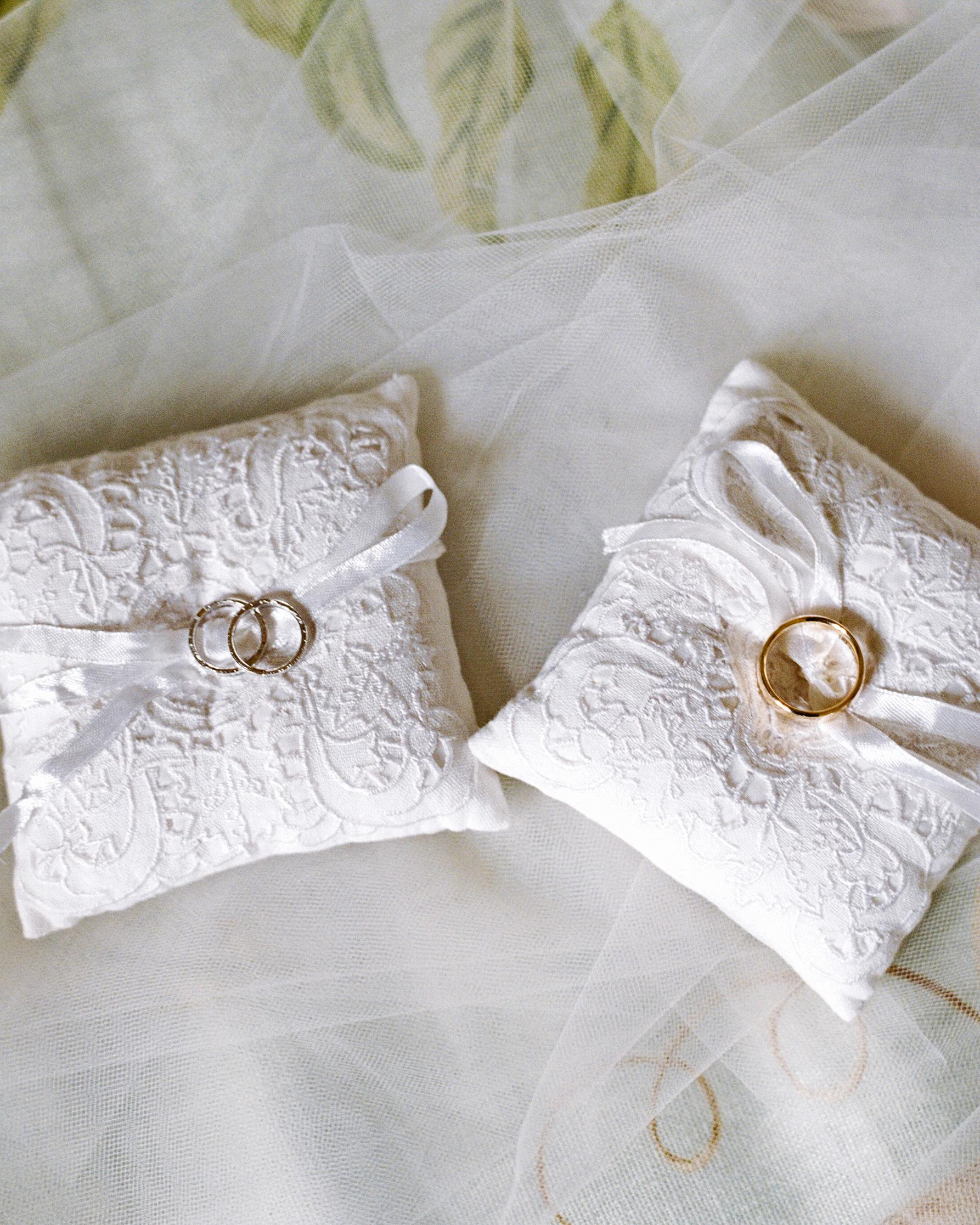 kate austin wedding rings pillows