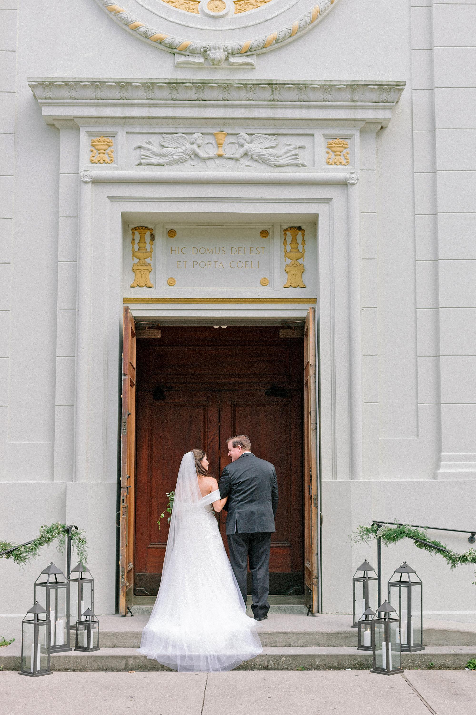 kate austin wedding processional church doorway