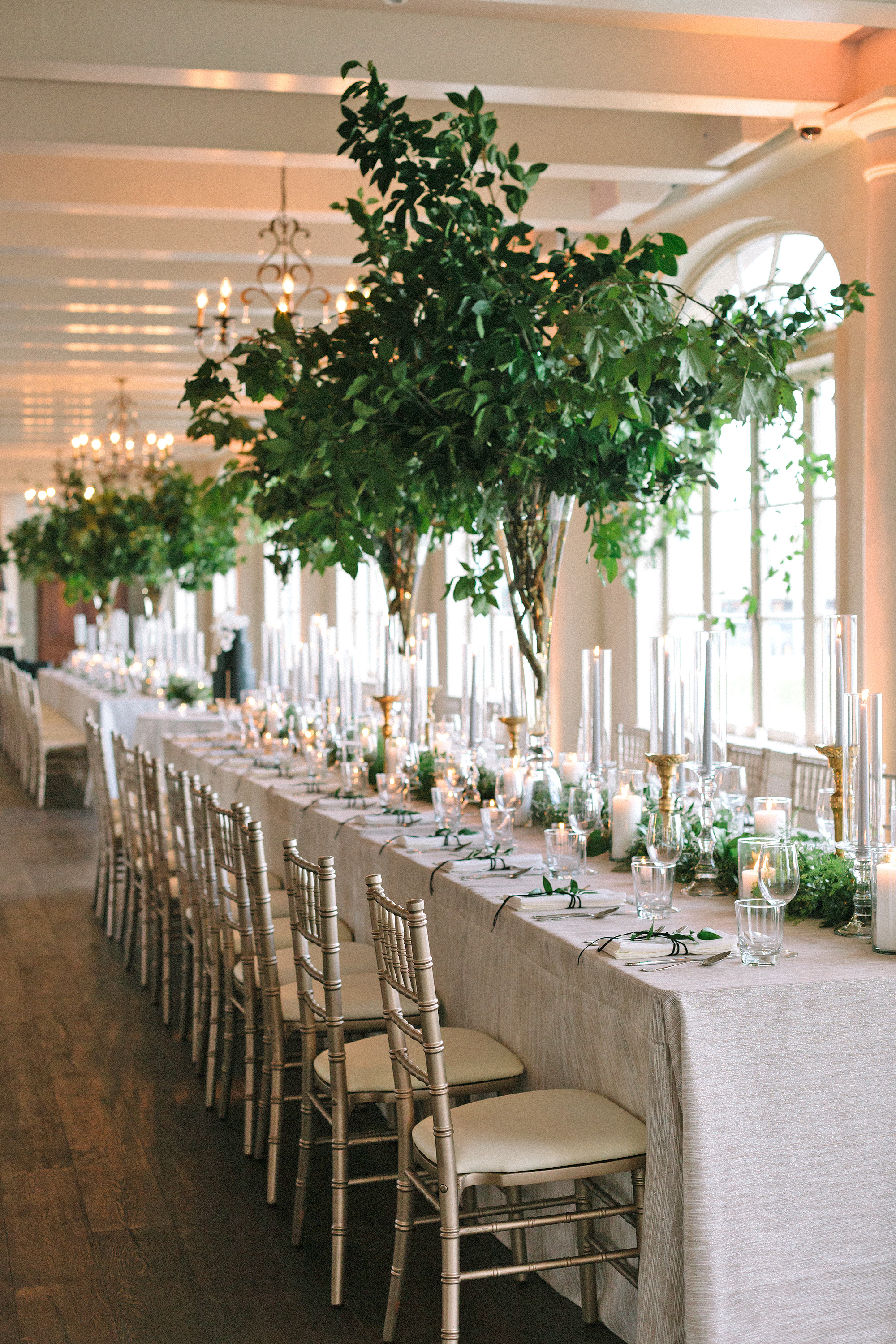 kate austin wedding reception table placesetting