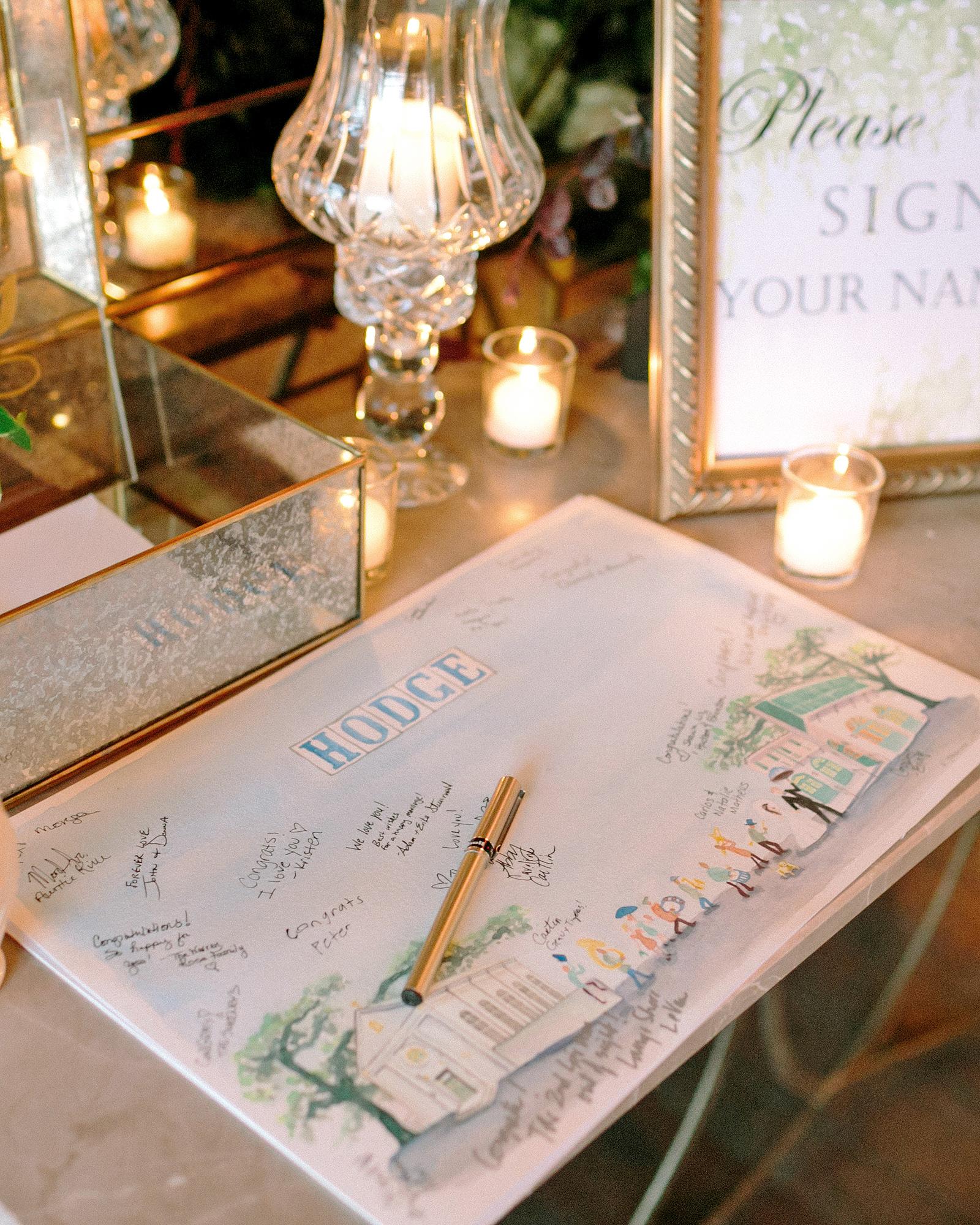 kate austin wedding guestbook
