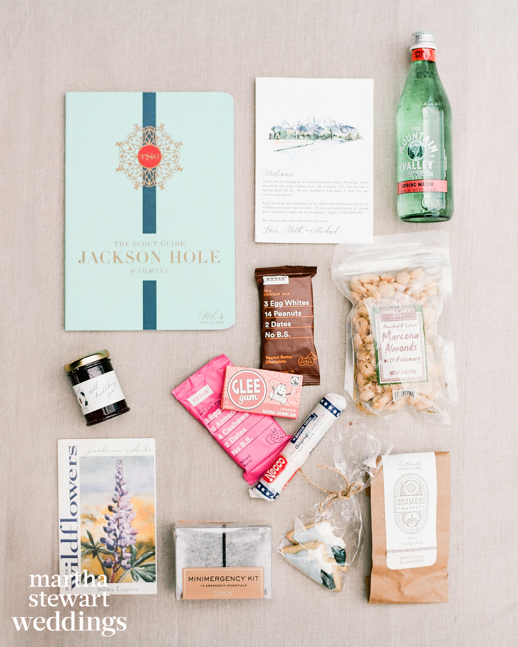 beth behrs michael gladis wedding welcome goodies sylvie gil