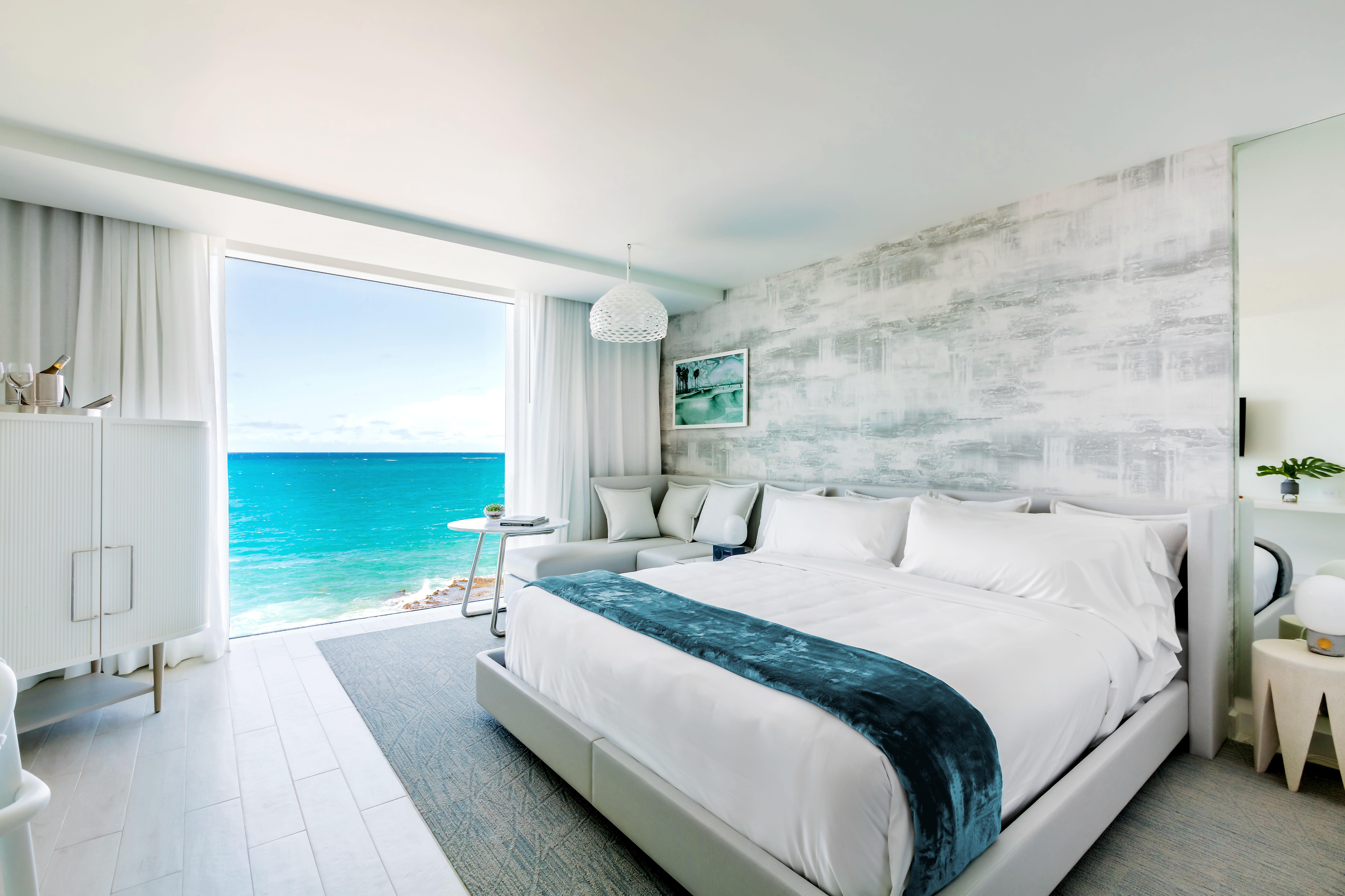 city meets beach hotel serafina beach room bed view