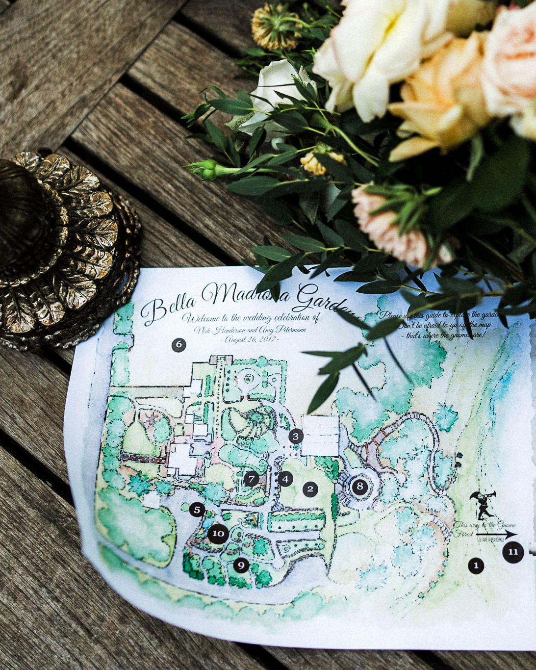 amy nick wedding map