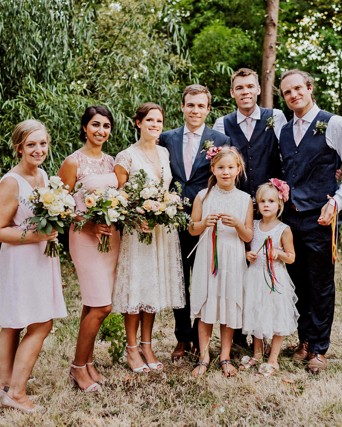 amy nick wedding bridal party