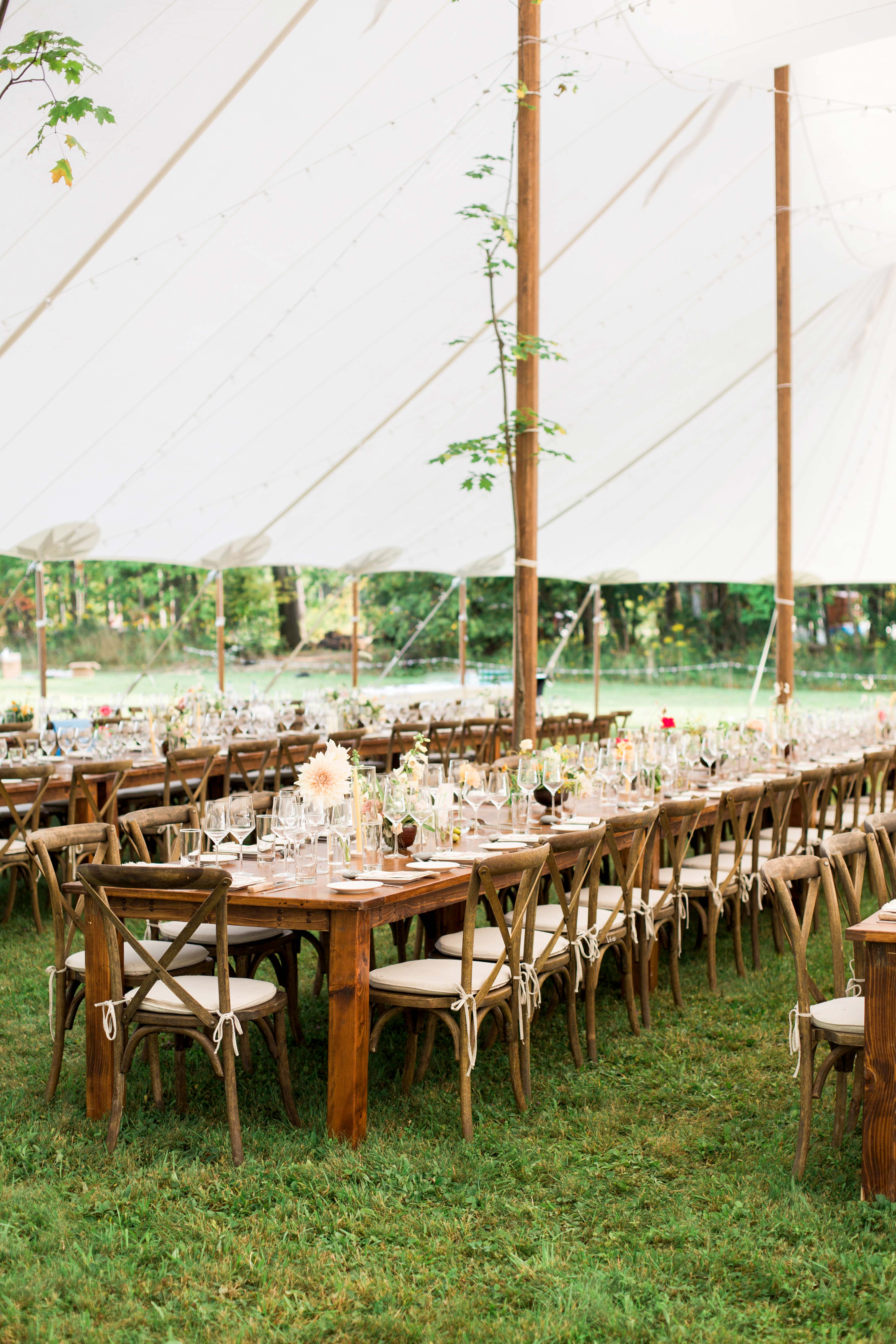 kayla michael wedding tent table