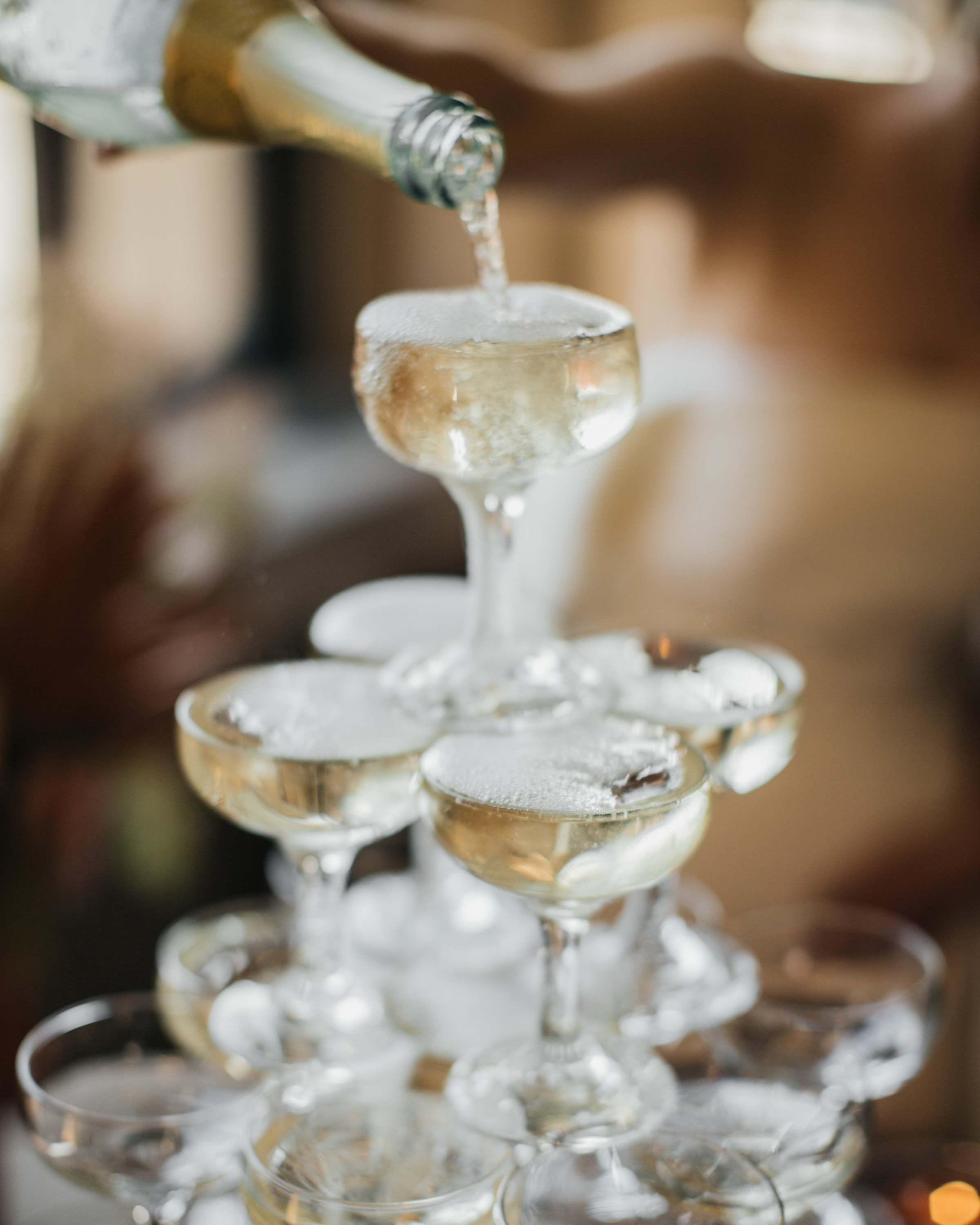 madison kyle wedding champagne tower