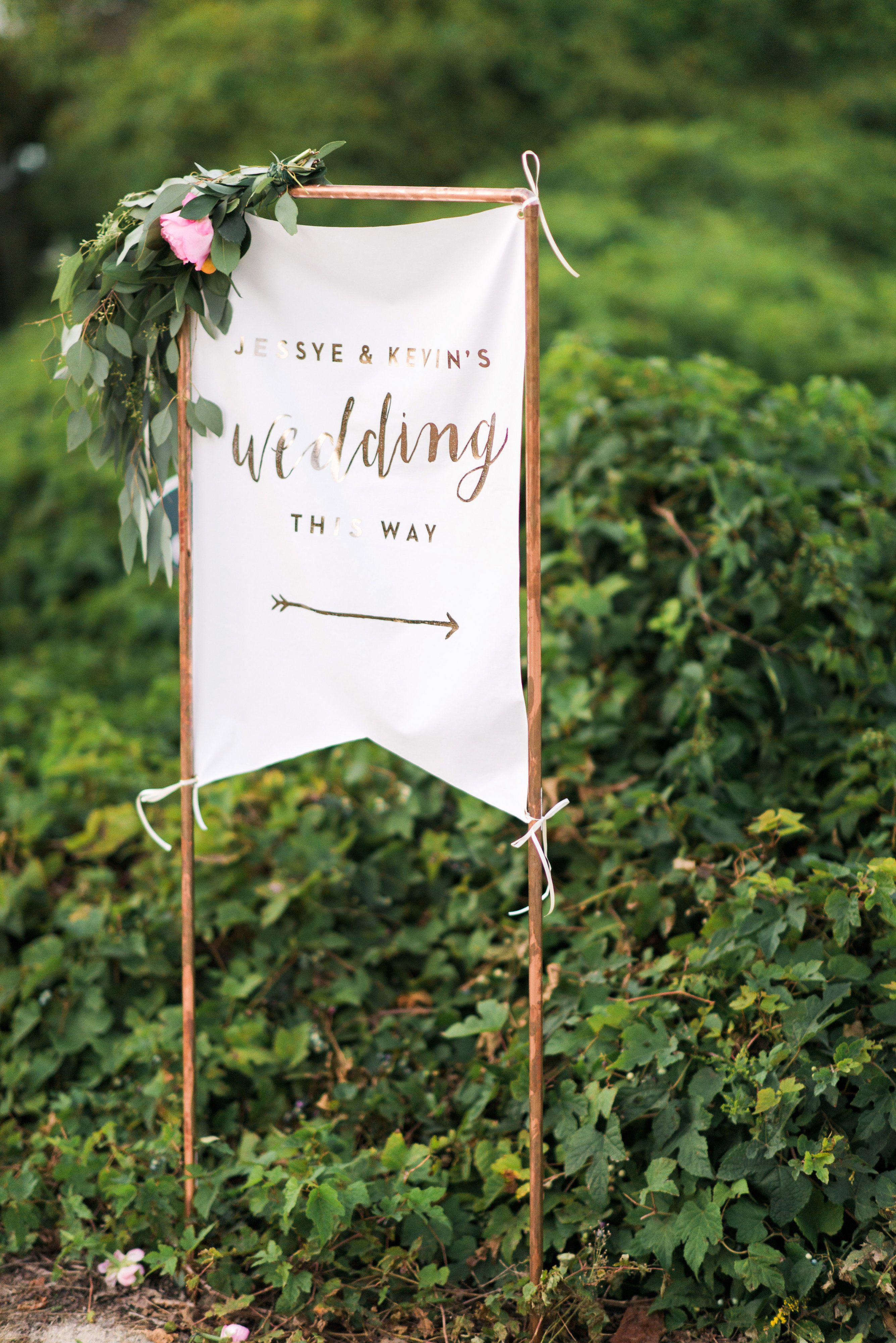 banner decor outdoor monogrammed sign